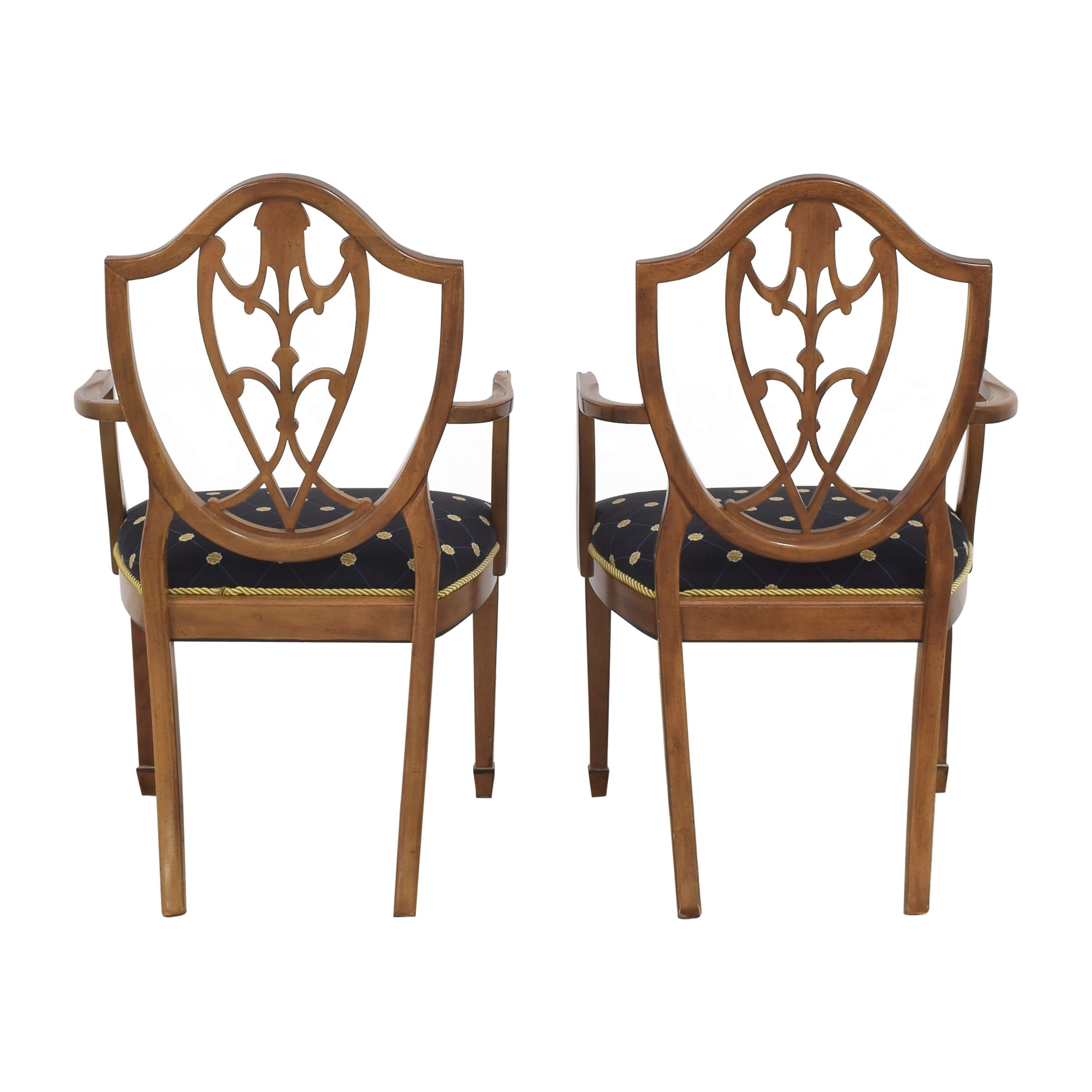 Drexel Upholstered Dining Arm Chairs Drexel