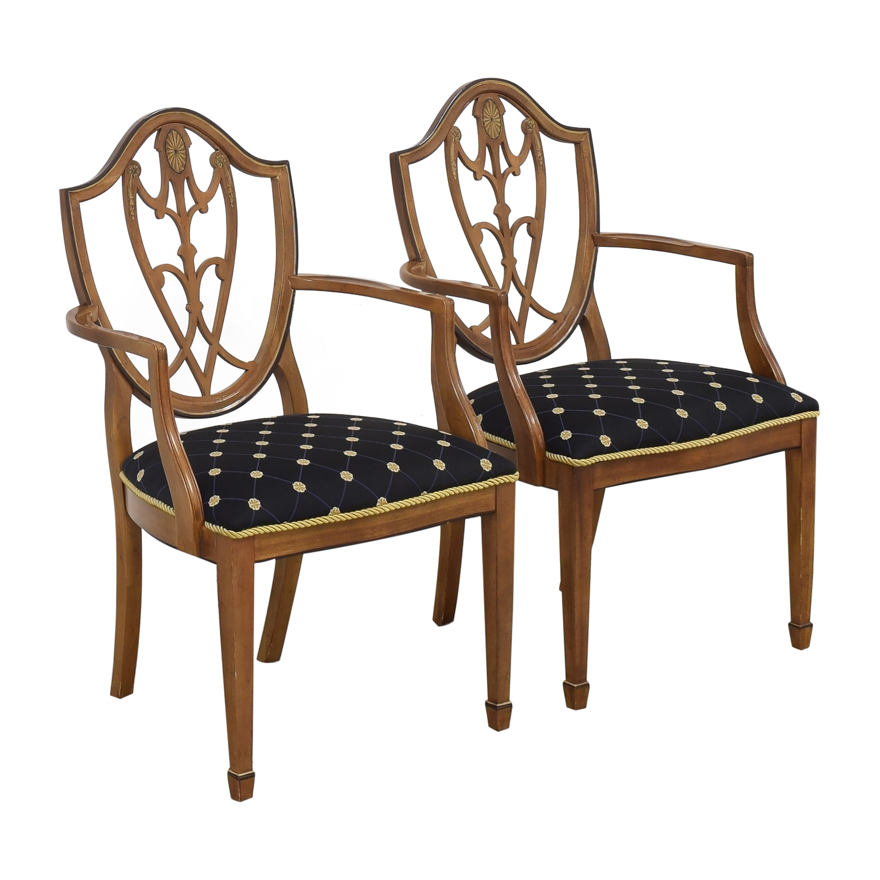 Drexel Drexel Upholstered Dining Arm Chairs Dining Chairs