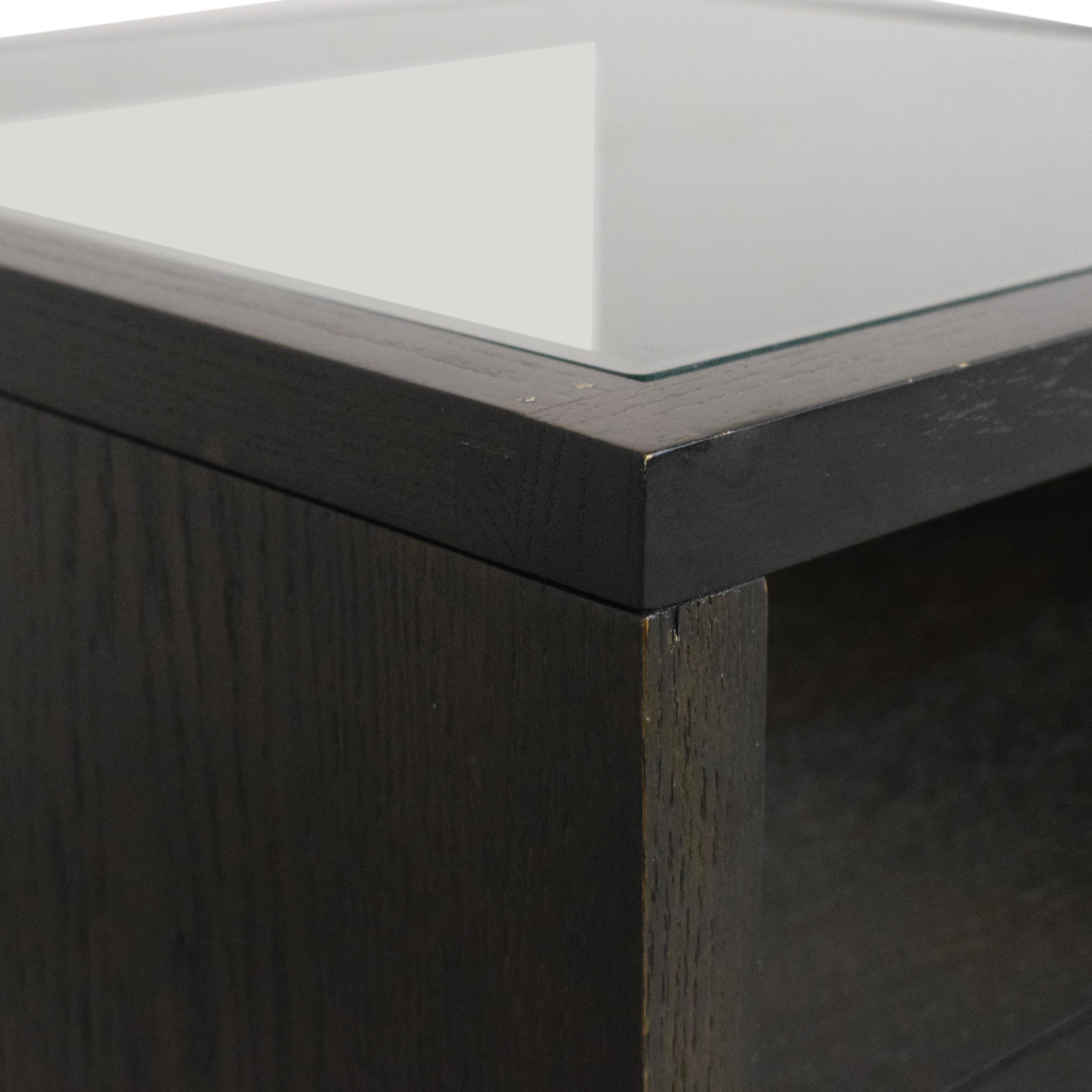 West Elm West Elm Nightstand with Transparent Surface for sale