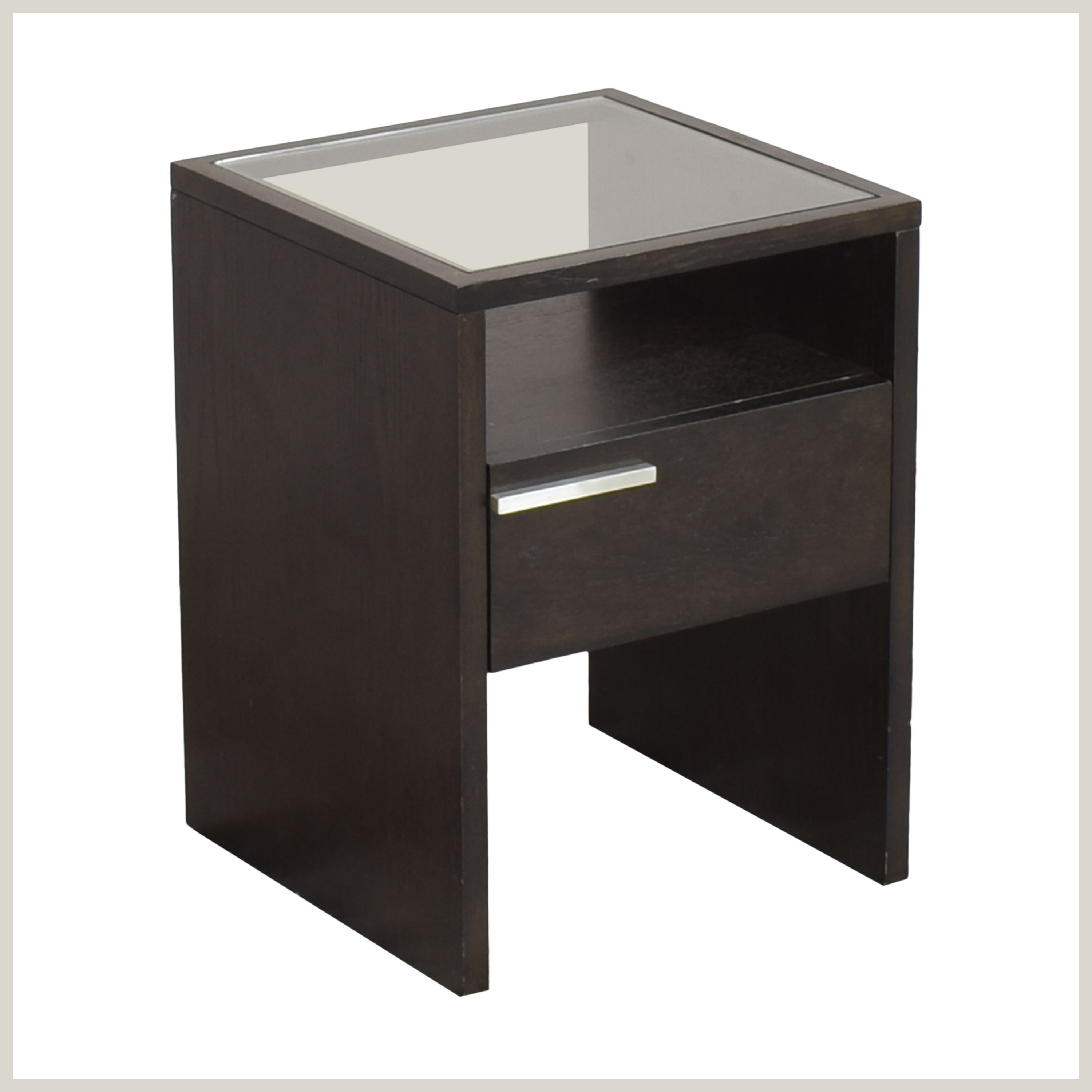 shop West Elm Nightstand with Transparent Surface West Elm End Tables