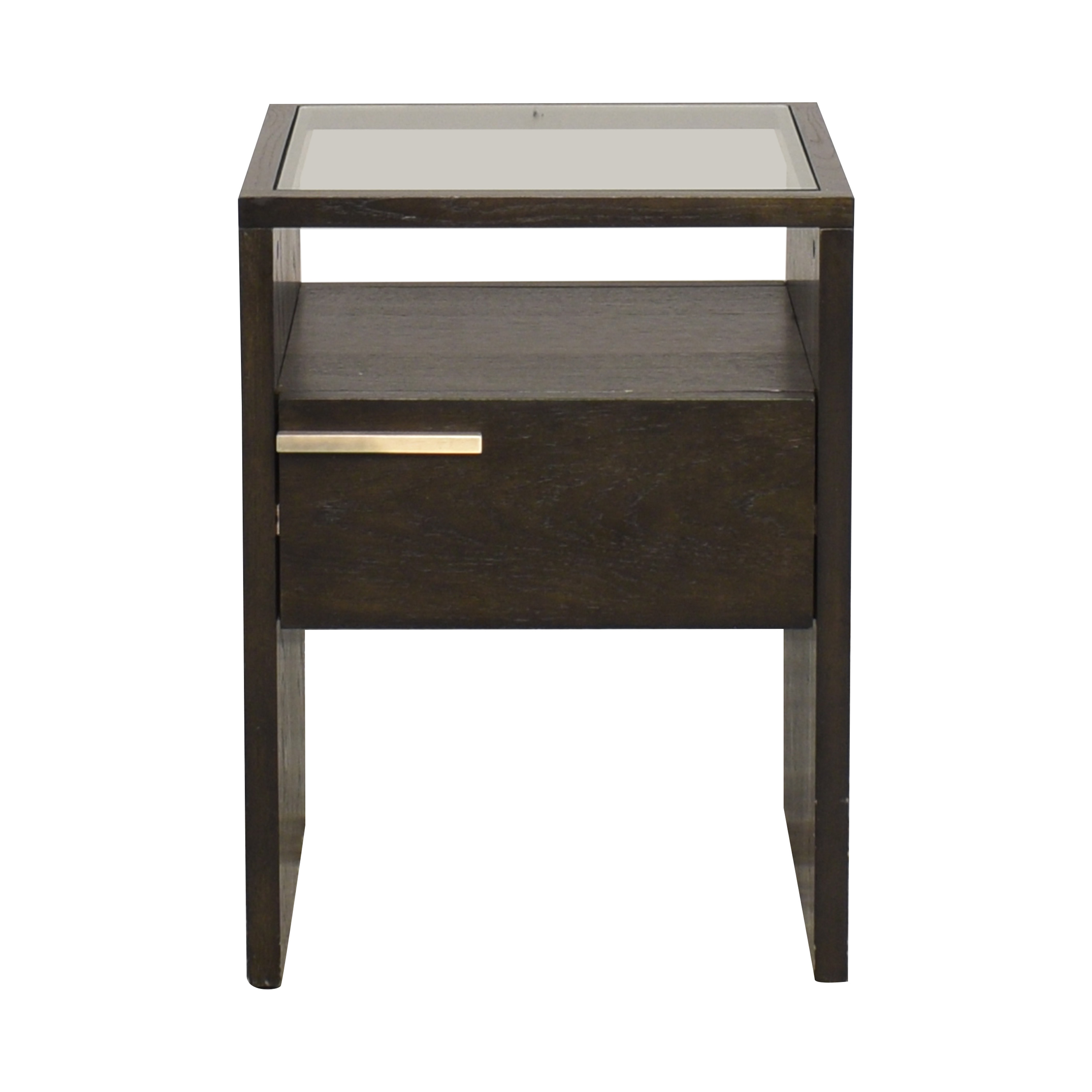West Elm Nightstand with Transparent Surface sale
