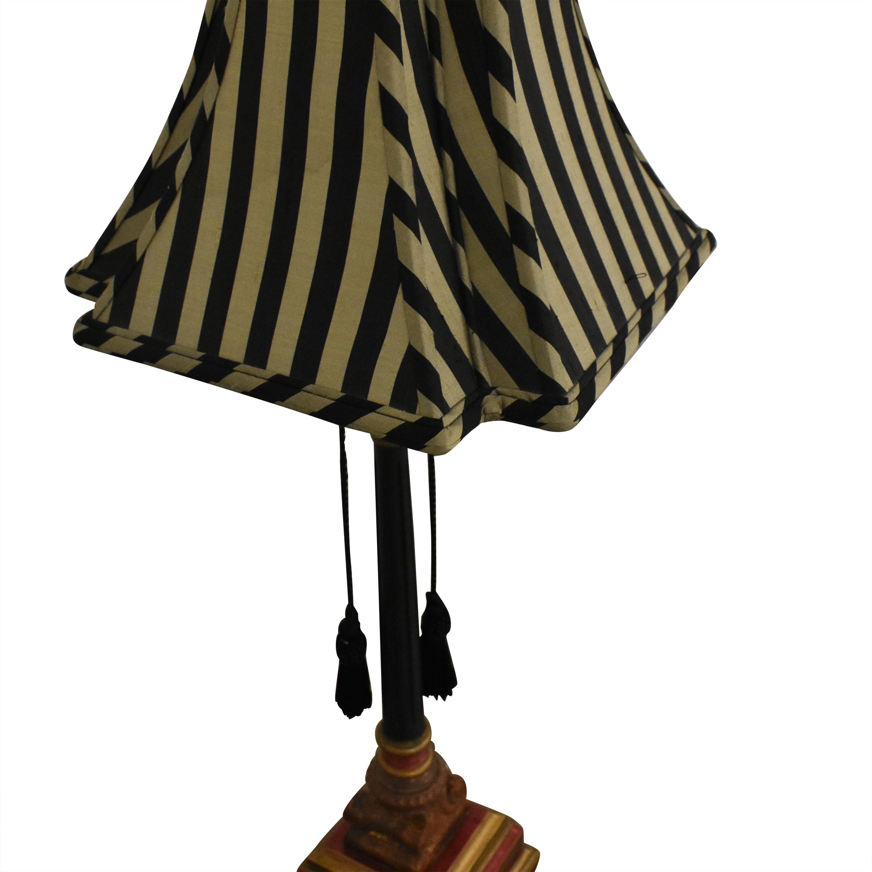 shop Vintage Striped Table Lamp  Lamps