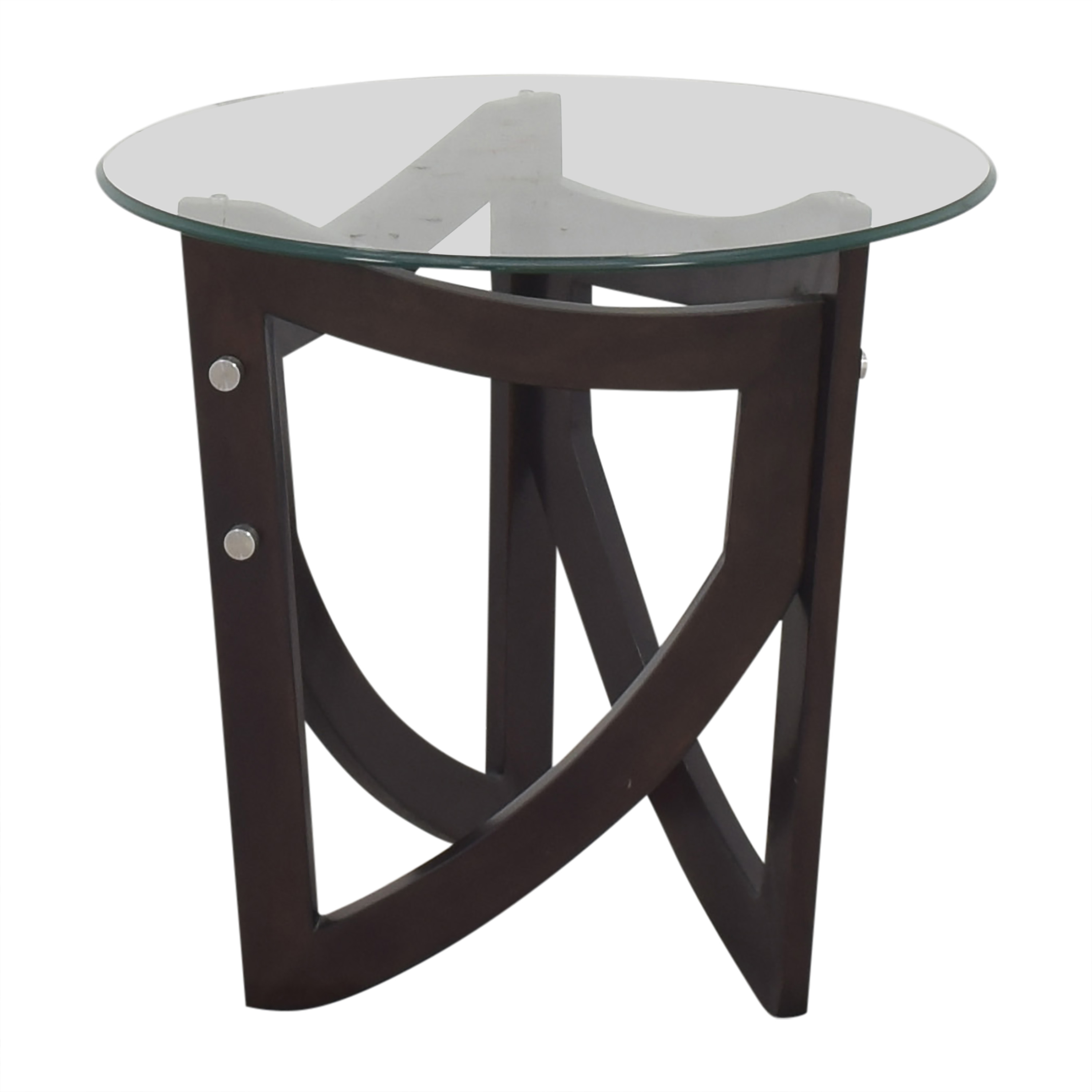 Modern End Table with Transparent Surface on sale