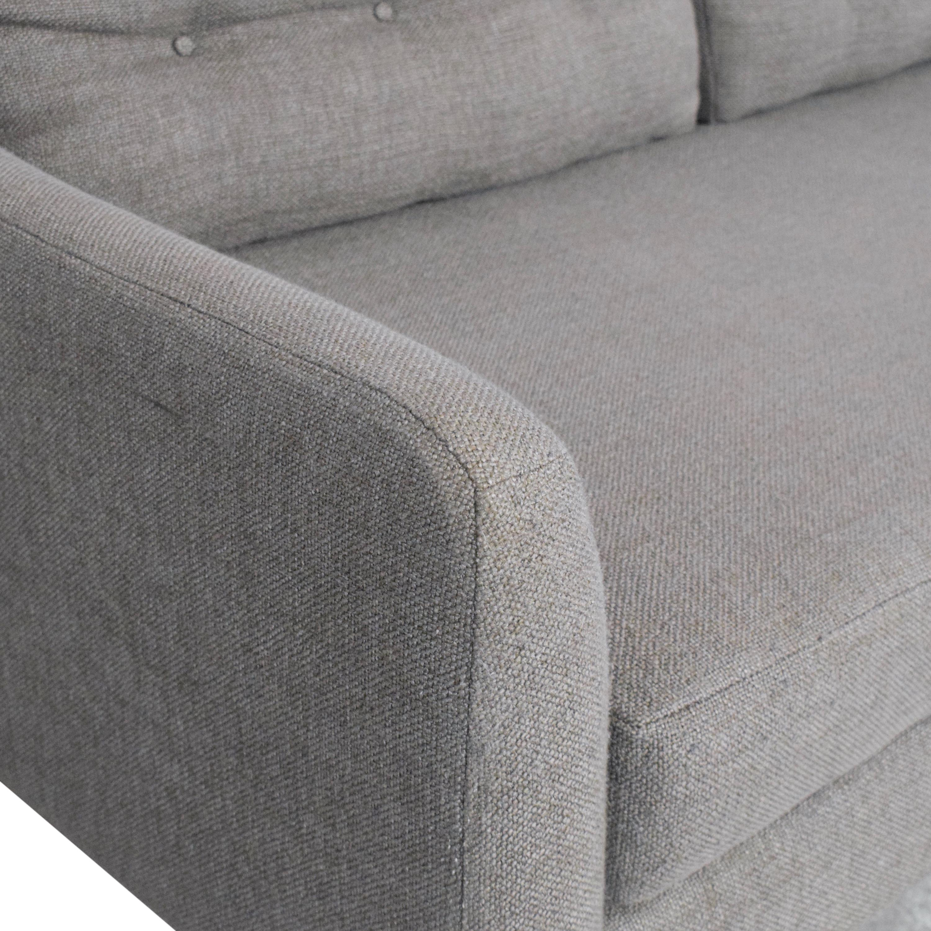 buy West Elm Crosby Two Piece Chaise Sectional Sofa West Elm Sofas