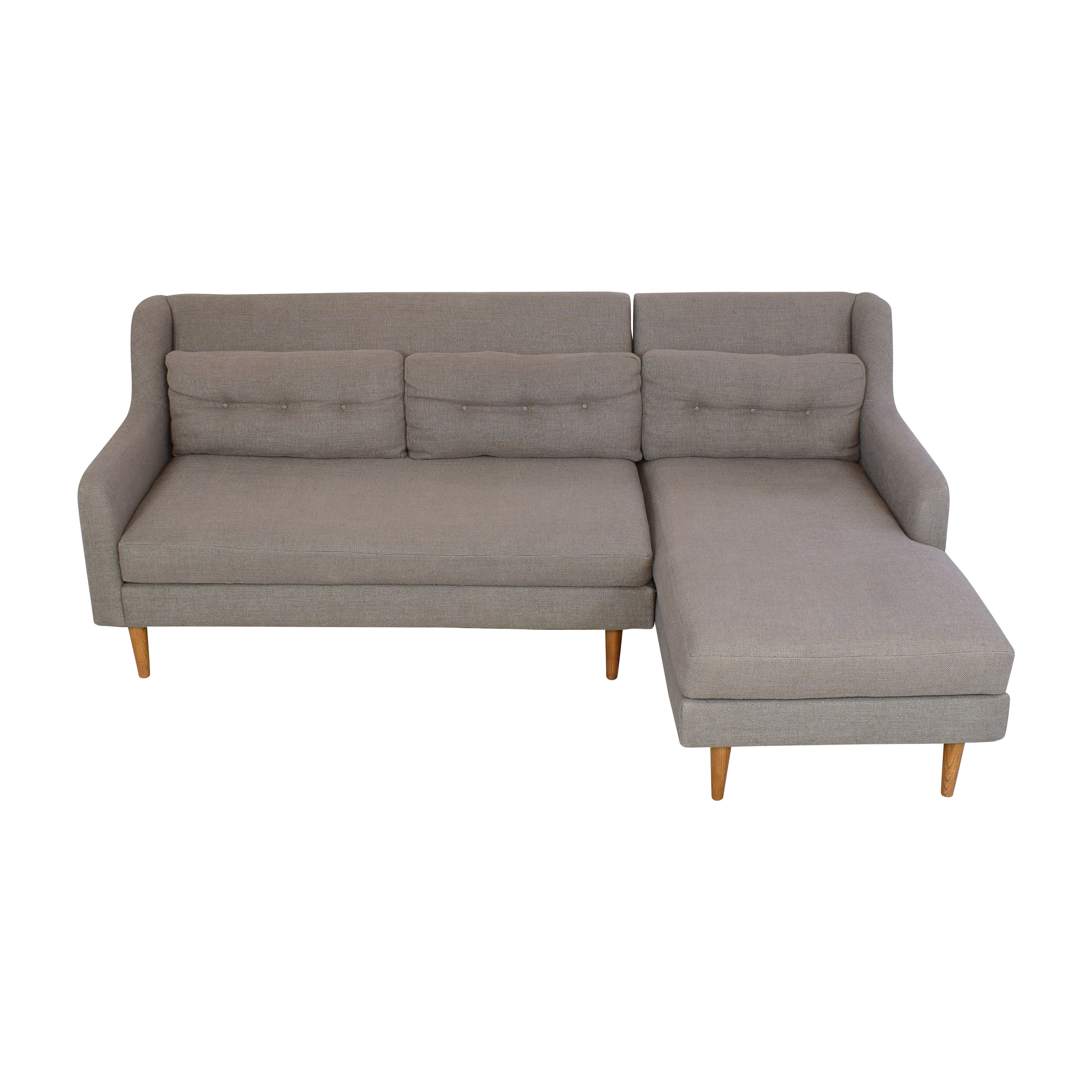 buy West Elm West Elm Crosby Two Piece Chaise Sectional Sofa online