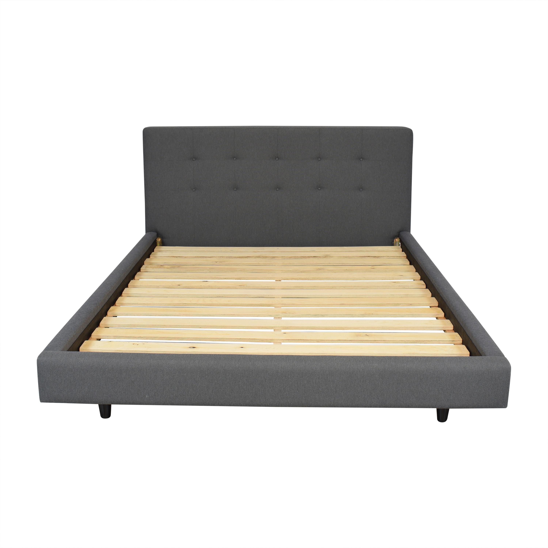 Crate & Barrel Tate Charcoal Queen Bed Crate & Barrel