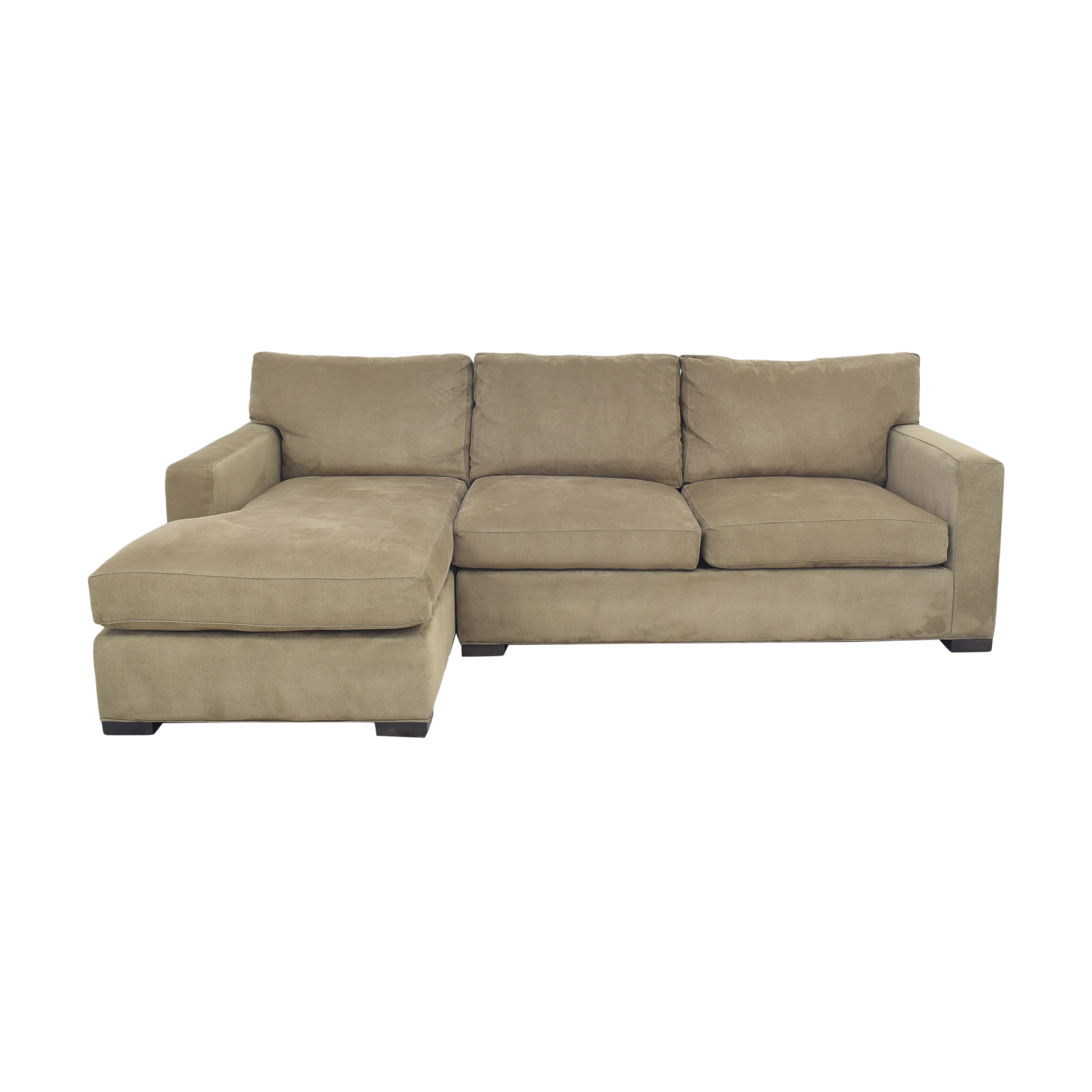 Crate & Barrel Axis II Two Piece Sectional Sofa Crate & Barrel