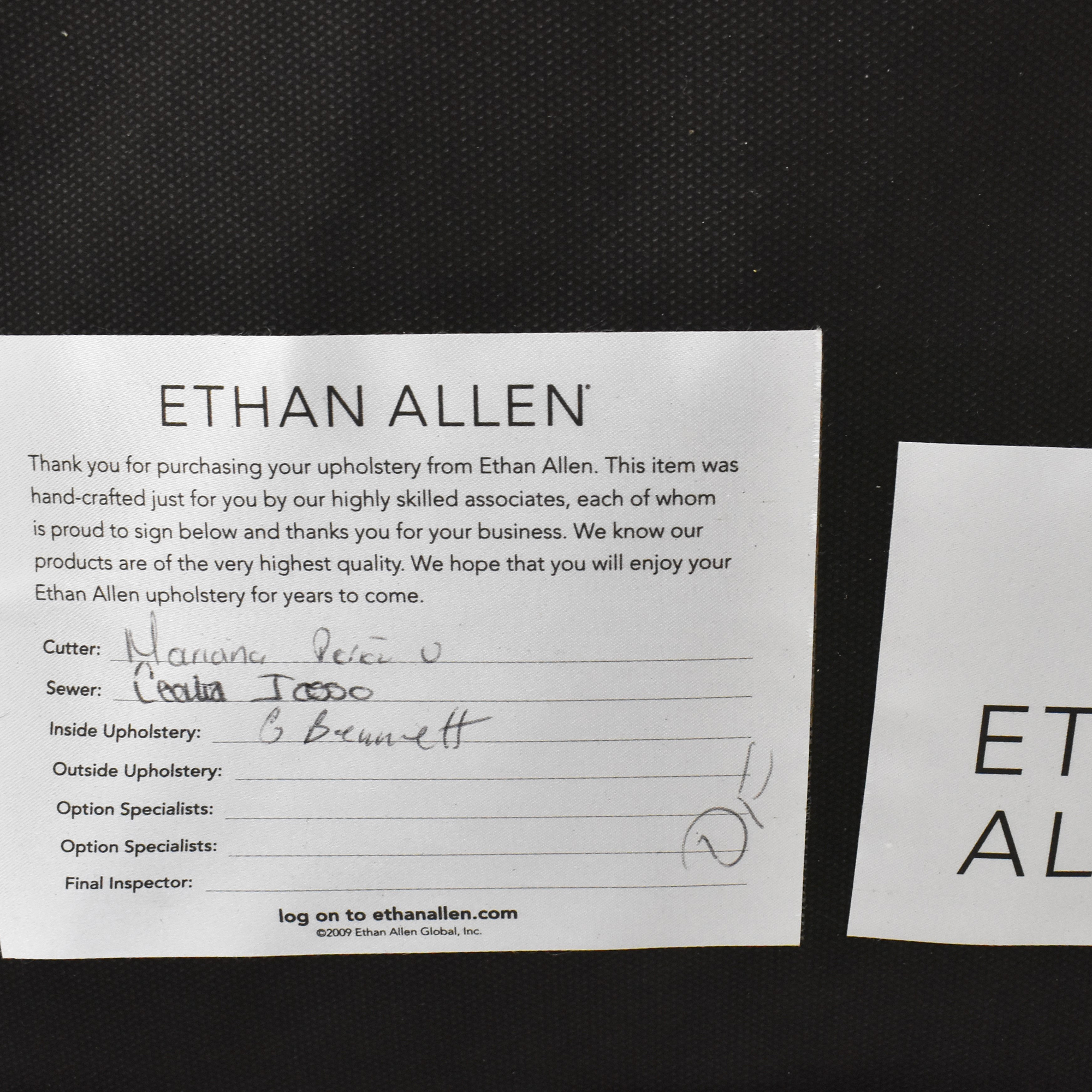 Ethan Allen Verlaine Dining Armchairs / Chairs
