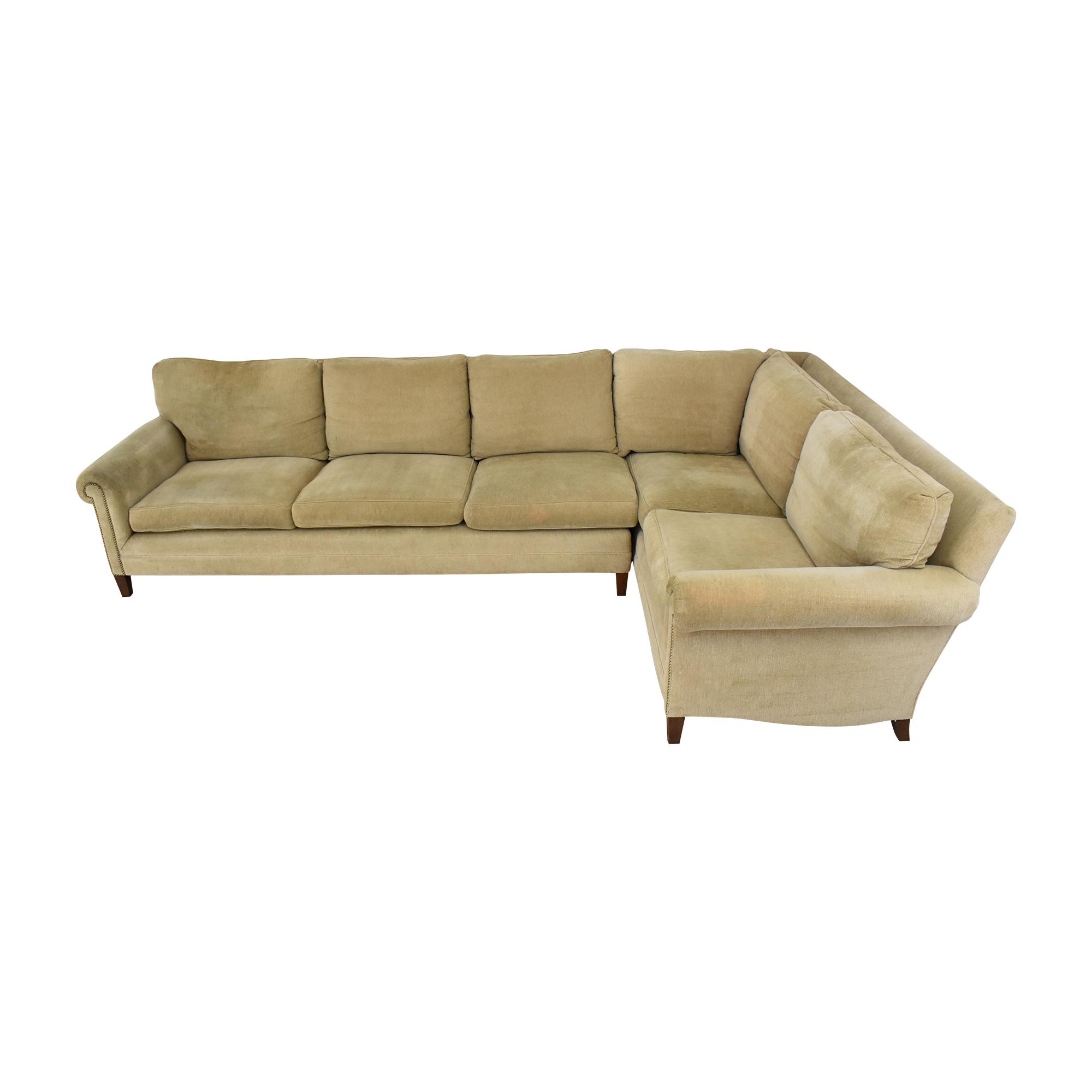 Custom L-Shaped Roll Arm Sectional Sofa discount