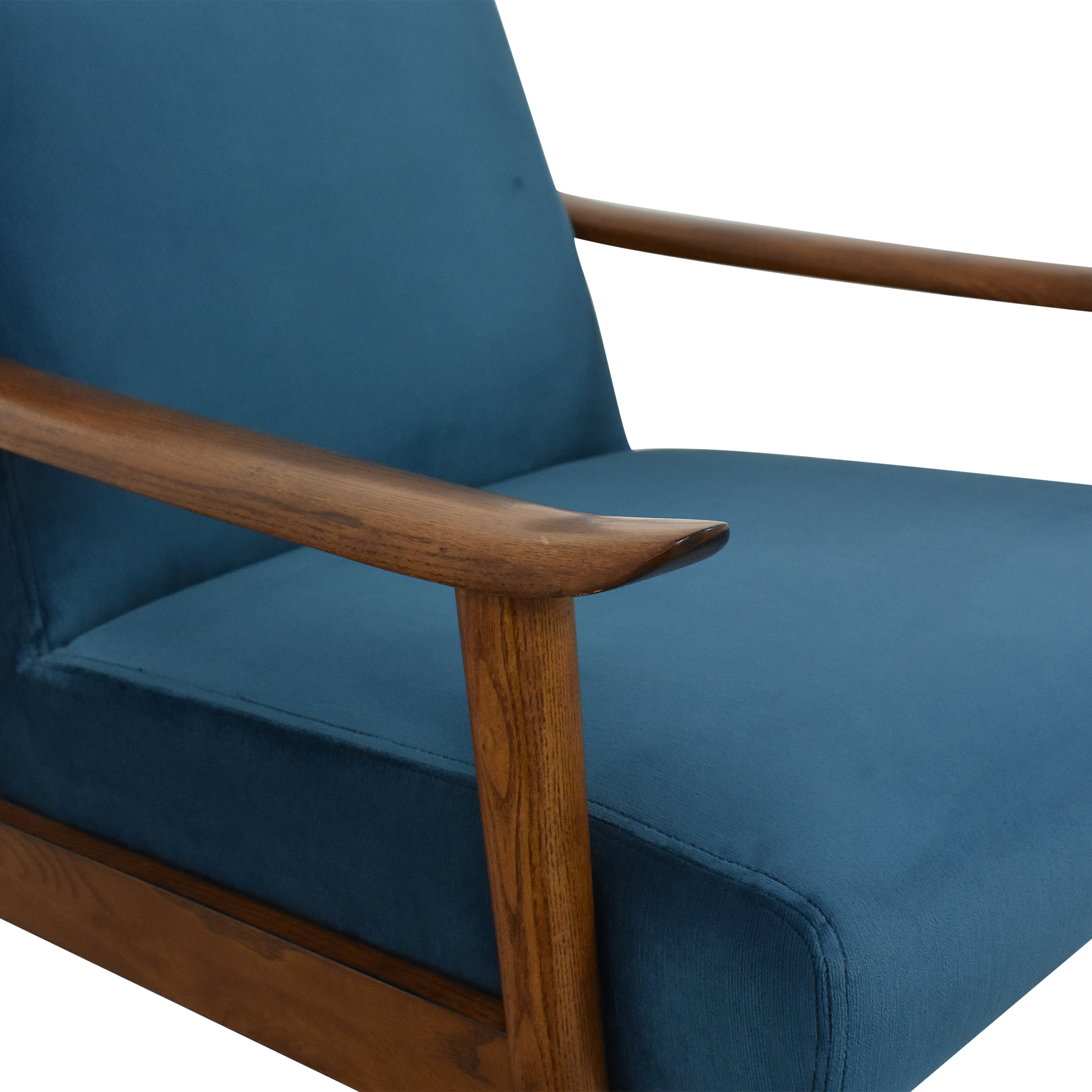 West Elm West Elm Mid-Century Show Wood Upholstered Chair Accent Chairs
