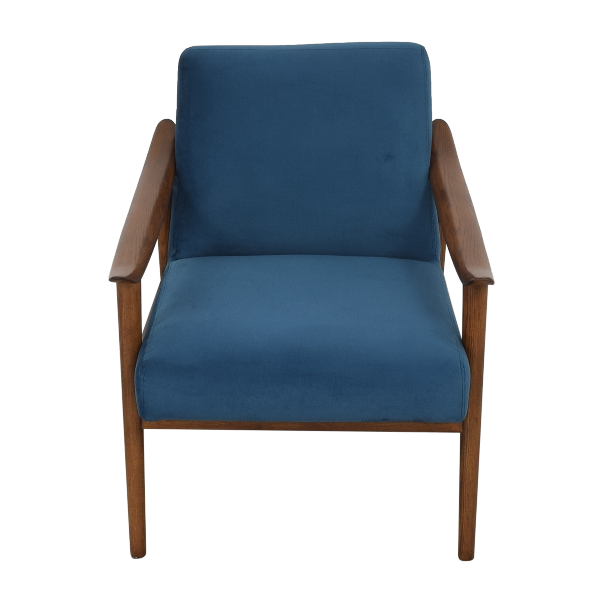 buy West Elm West Elm Mid-Century Show Wood Upholstered Chair online