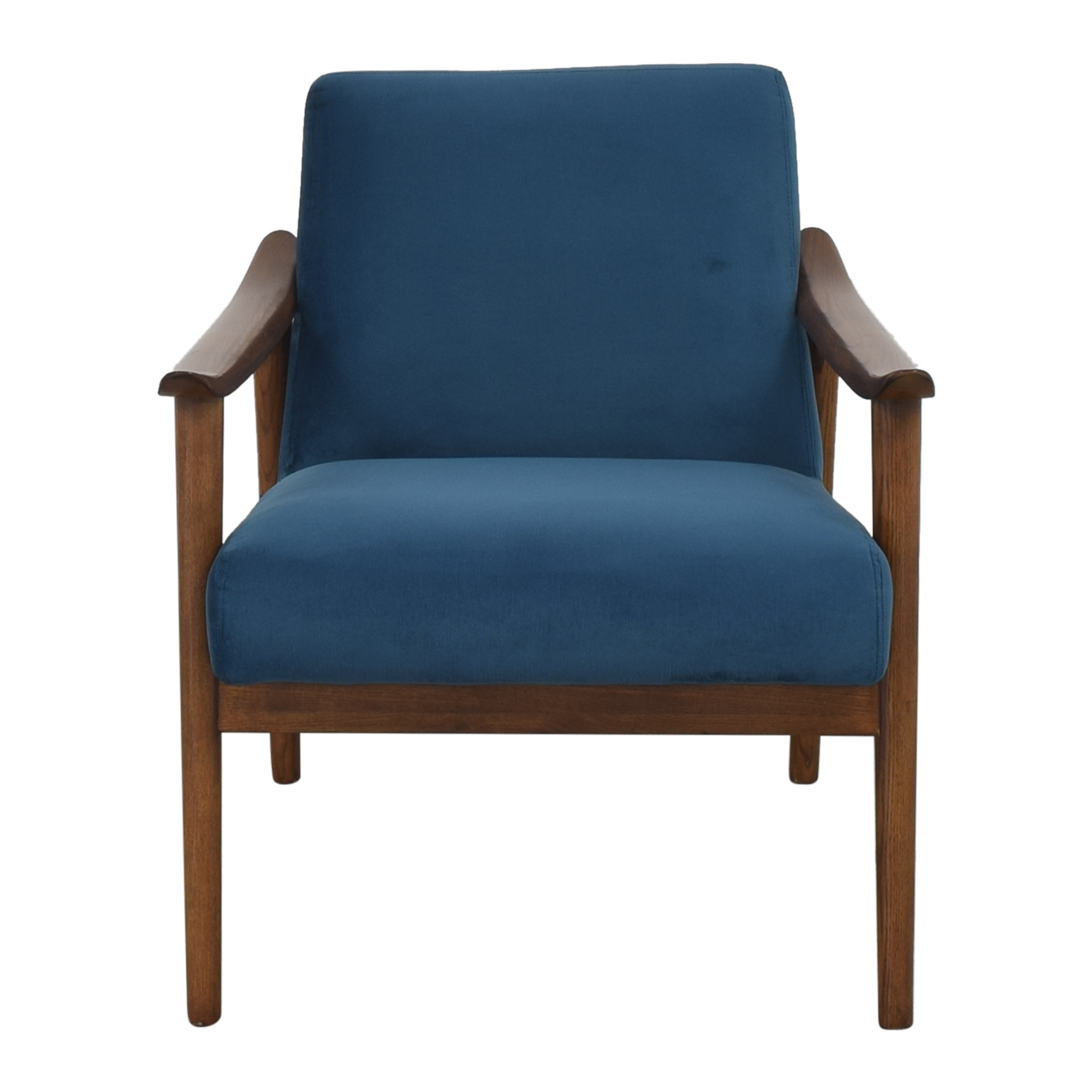 West Elm West Elm Mid-Century Show Wood Upholstered Chair for sale