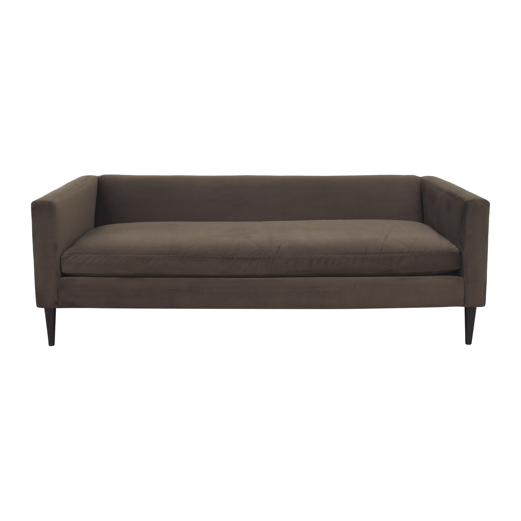 CB2 CB2 Bench Cushion Sofa with Pillows dimensions