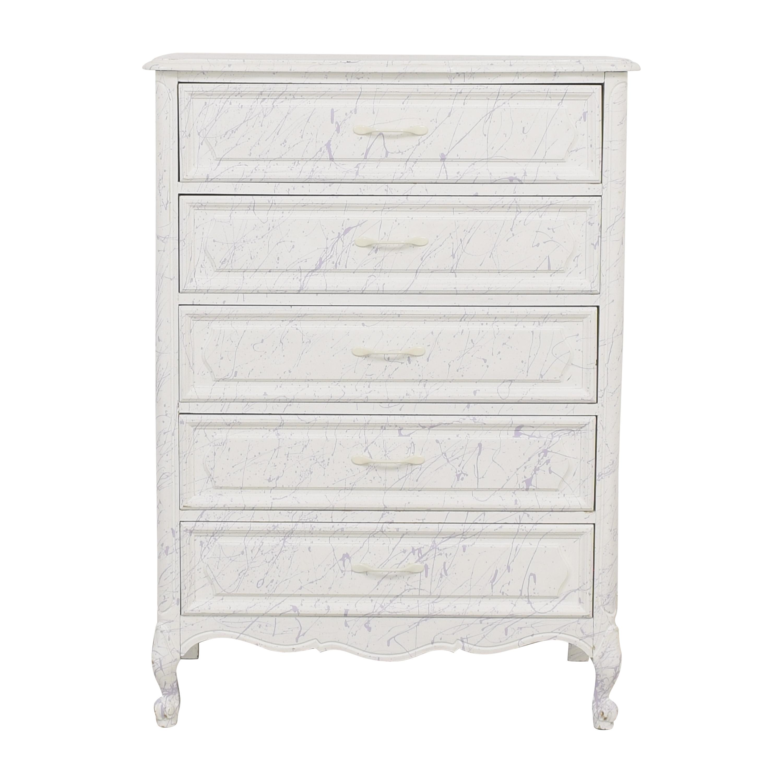 Paint Splatter Five Drawer Dresser nj