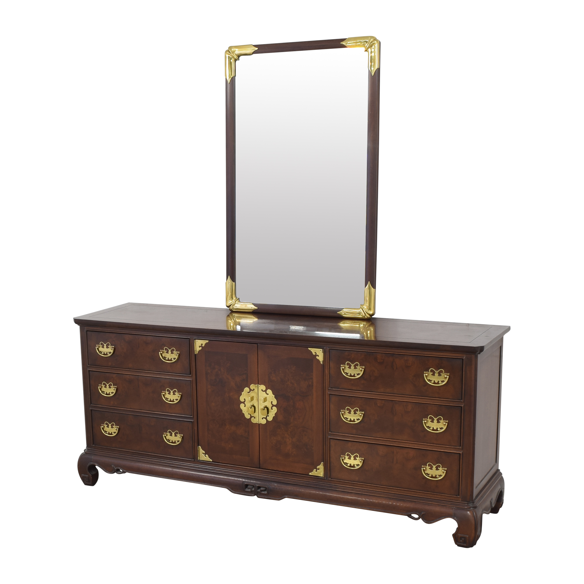 Heritage Henredon Heritage Henredon Dresser with Mirror ma