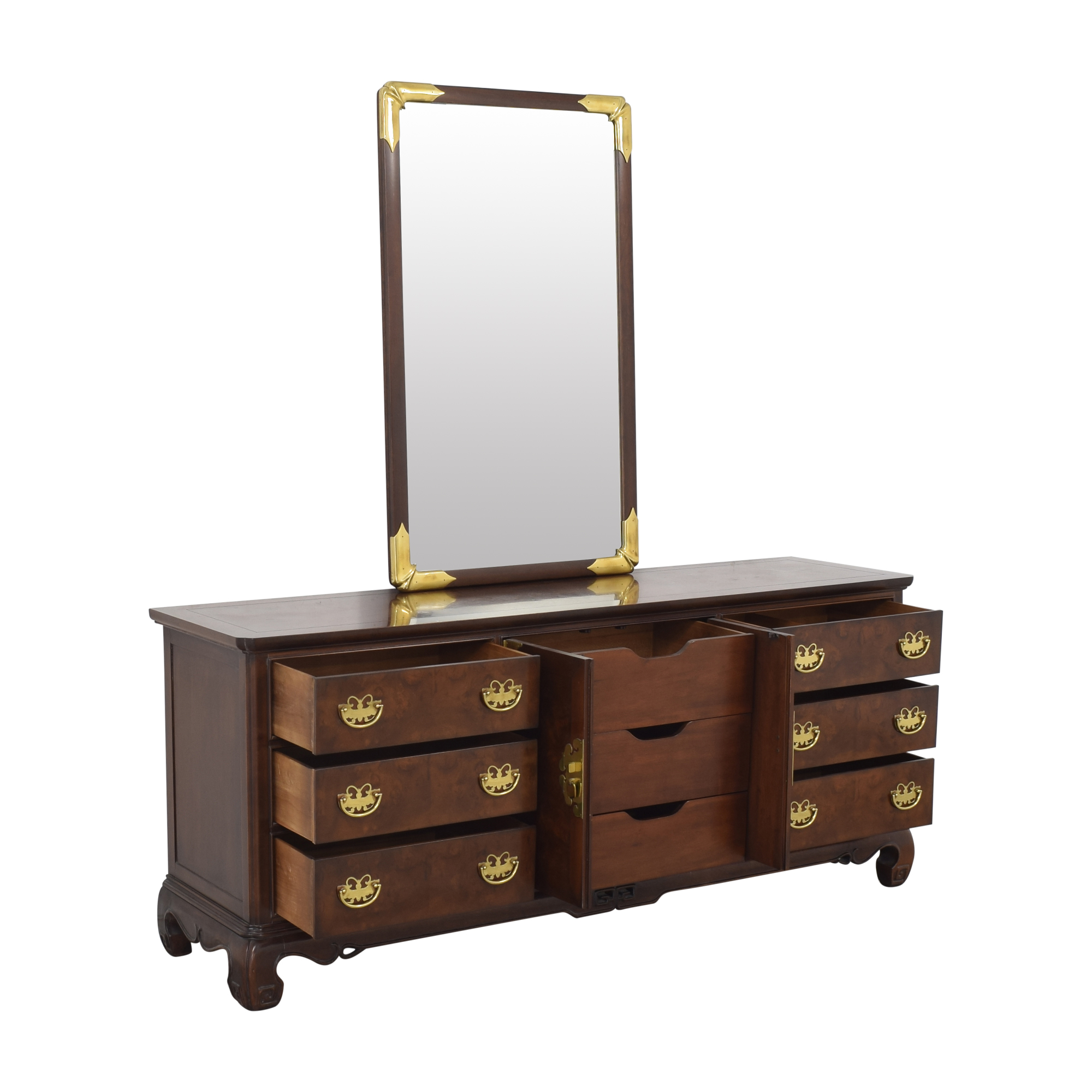 Heritage Henredon Heritage Henredon Dresser with Mirror nj