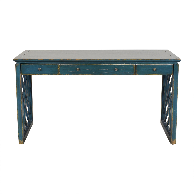 buy Ethan Allen Ethan Allen Dynasty Desk with Openwork Legs online