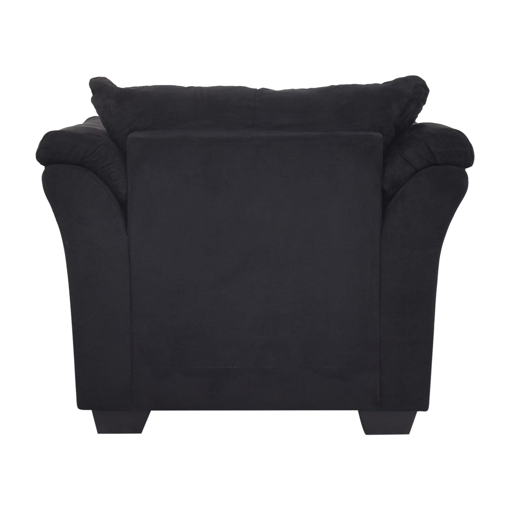 shop Ashley Furniture Darcy Cobblestone Chair and Ottoman Ashley Furniture