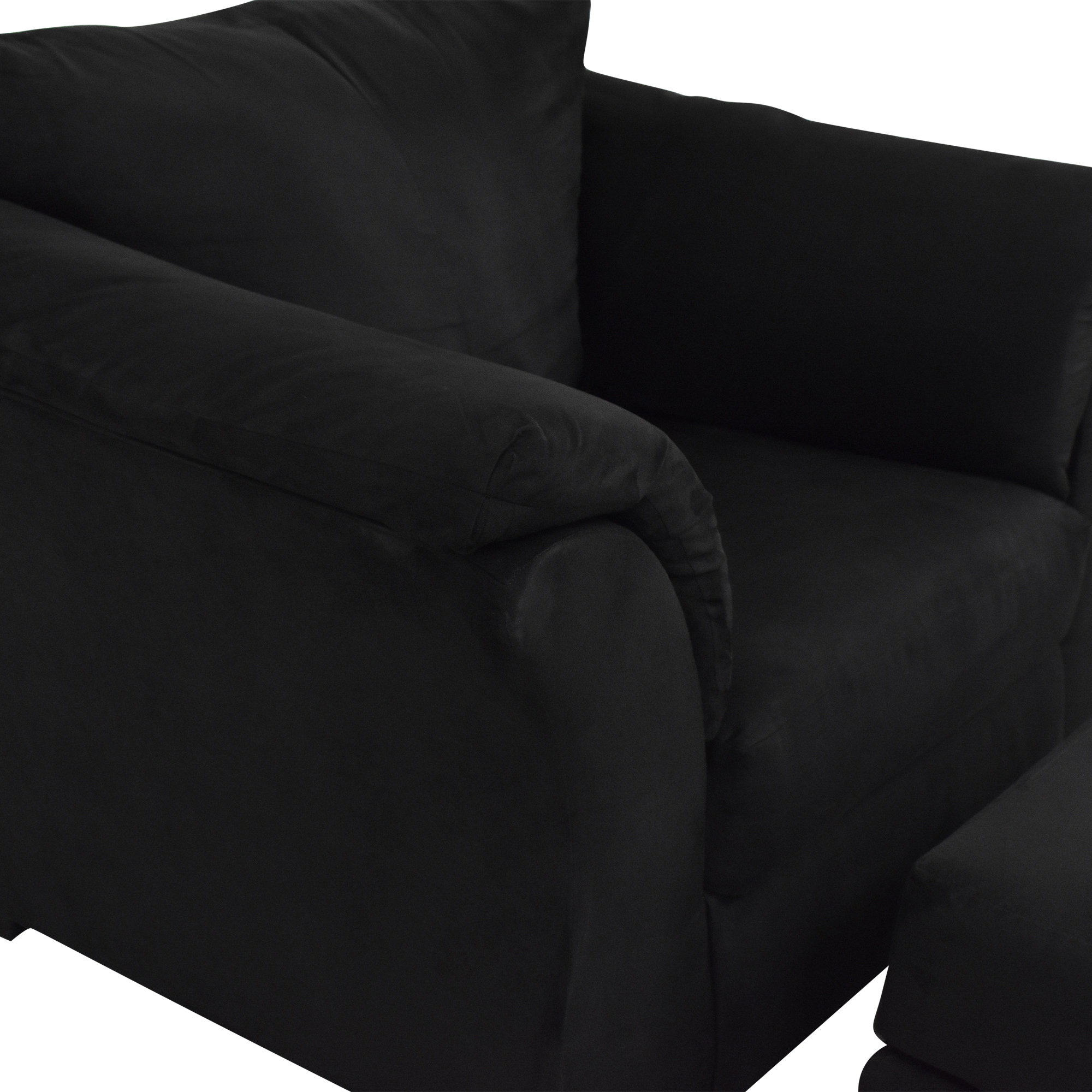 buy Ashley Furniture Ashley Furniture Darcy Cobblestone Chair and Ottoman online