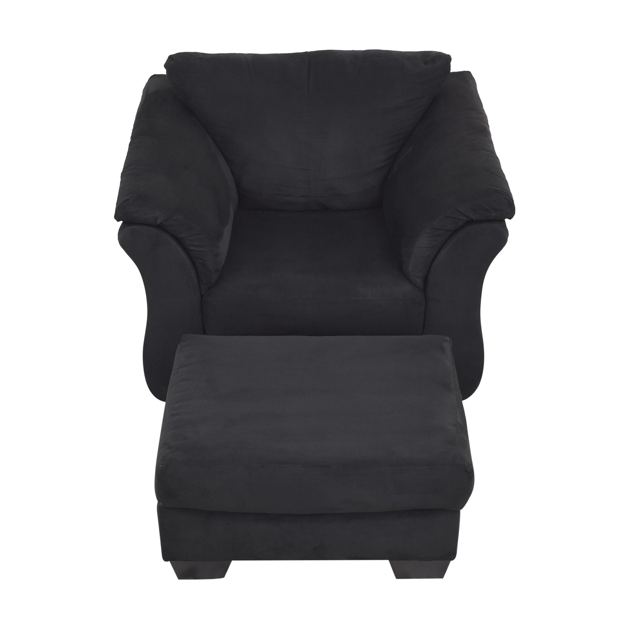 Ashley Furniture Ashley Furniture Darcy Cobblestone Chair and Ottoman dimensions