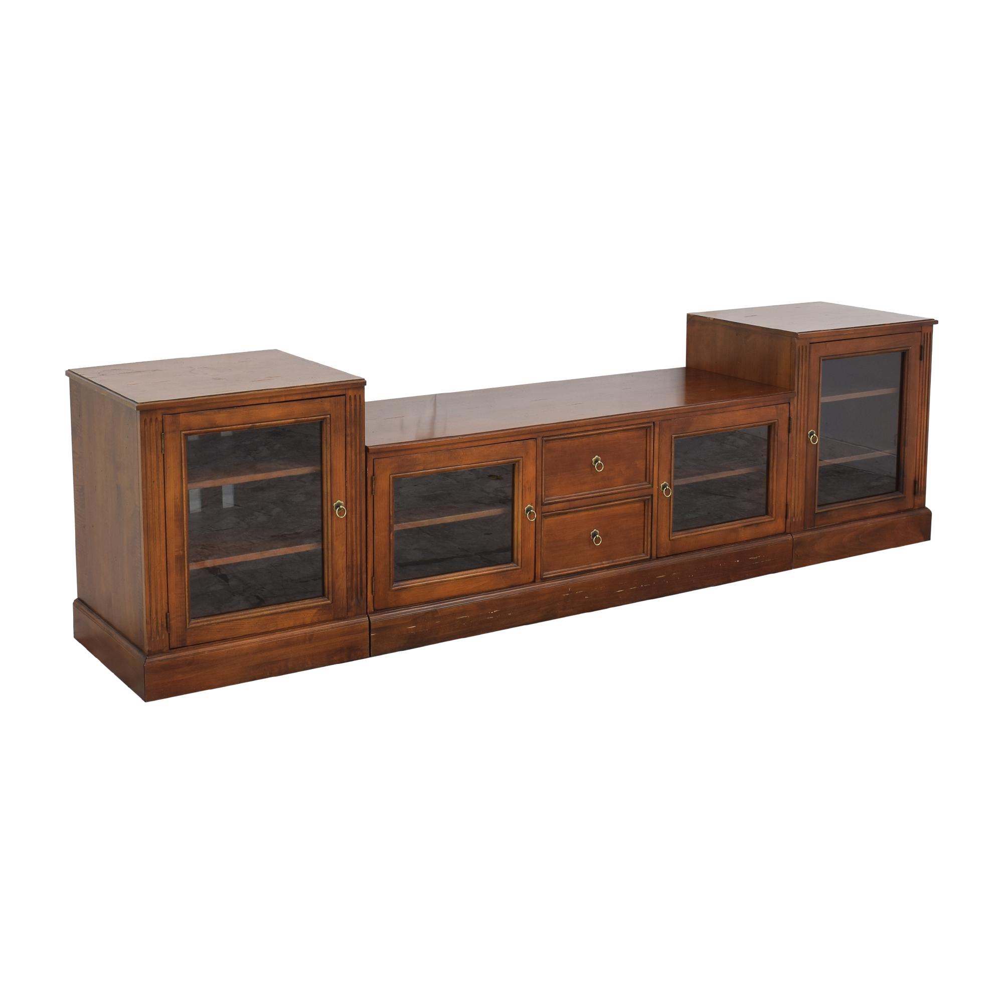 shop Ethan Allen British Classics Media Console Ethan Allen Cabinets & Sideboards