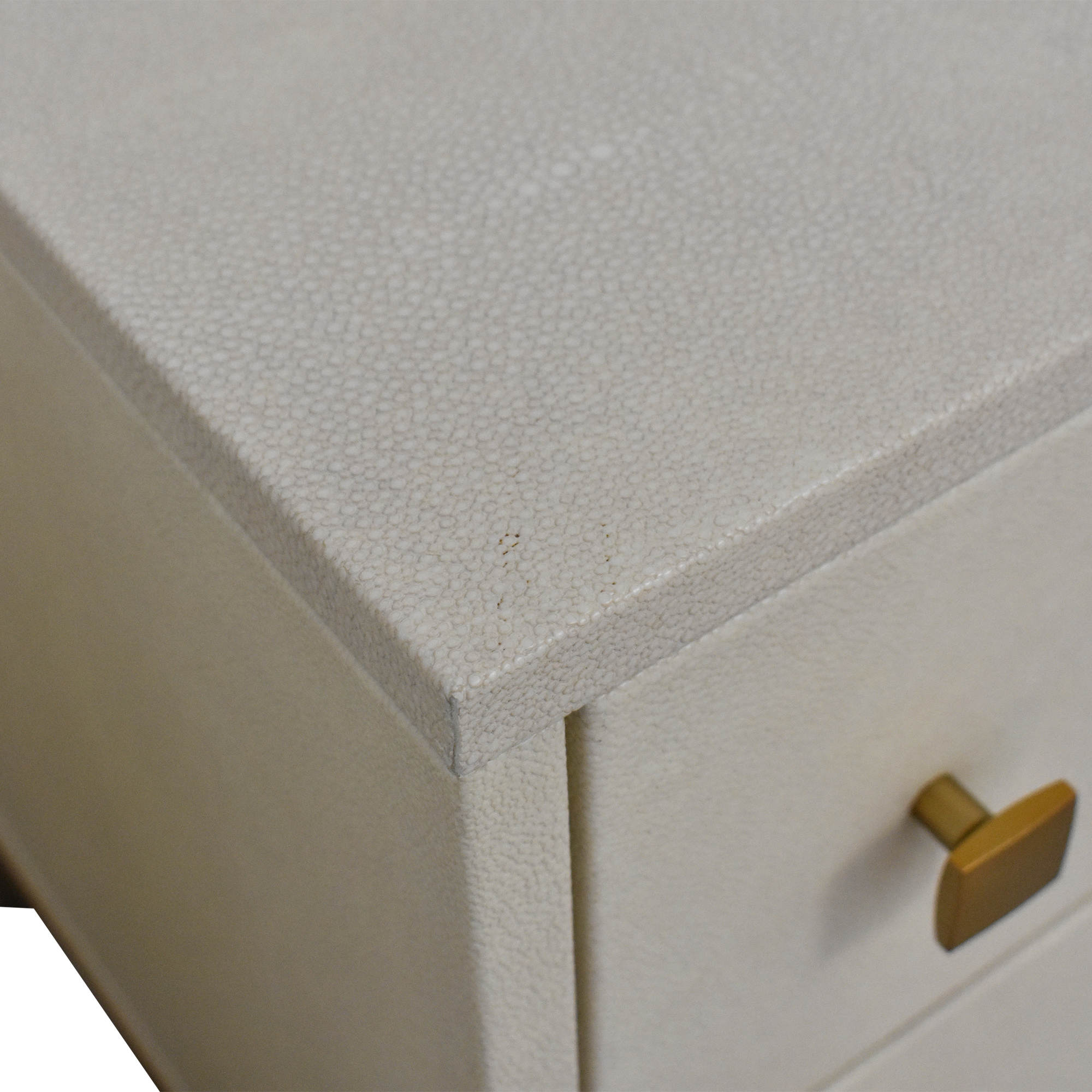 CB2 Shagreen Embossed Nightstands / End Tables
