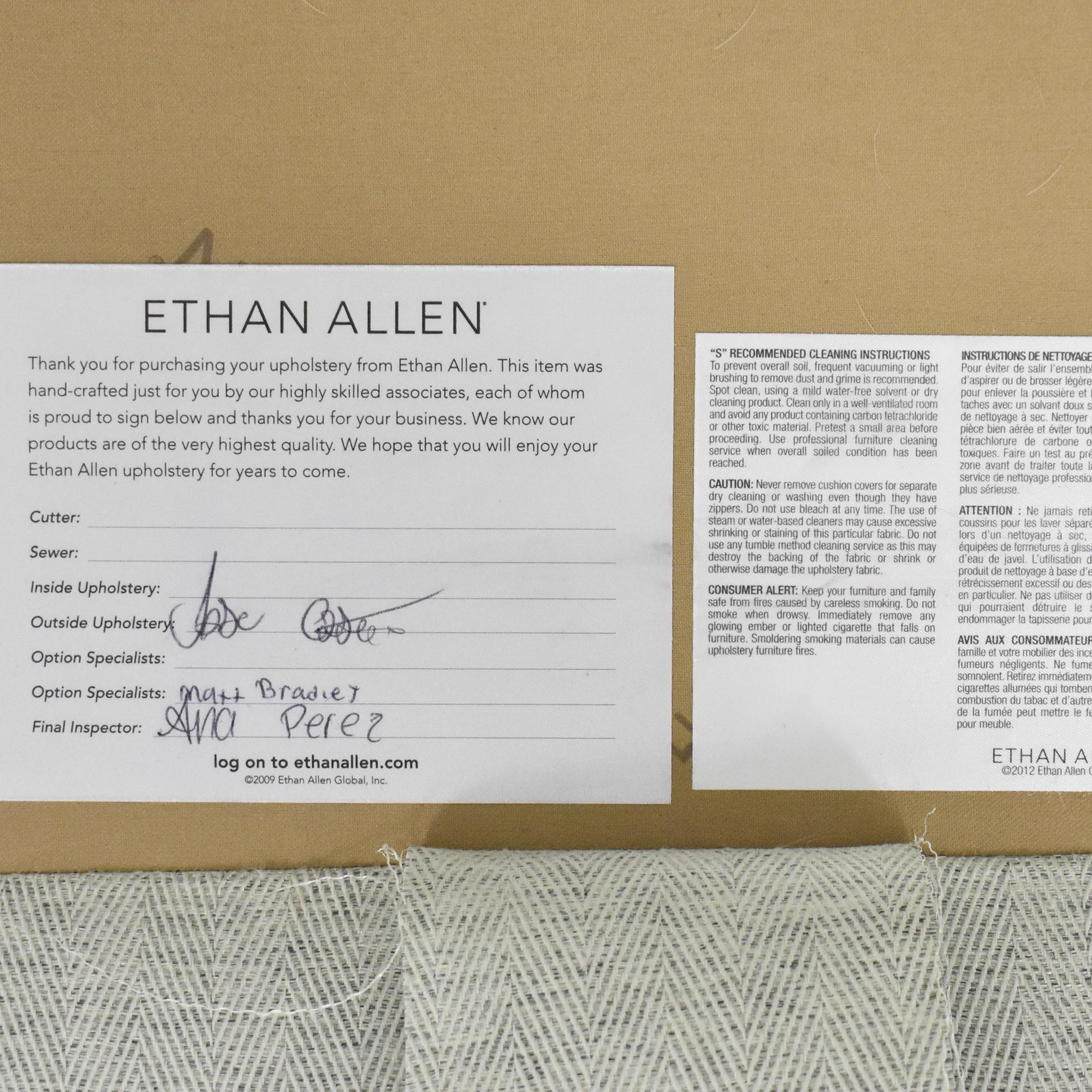 shop Ethan Allen Camelback Loveseat Ethan Allen