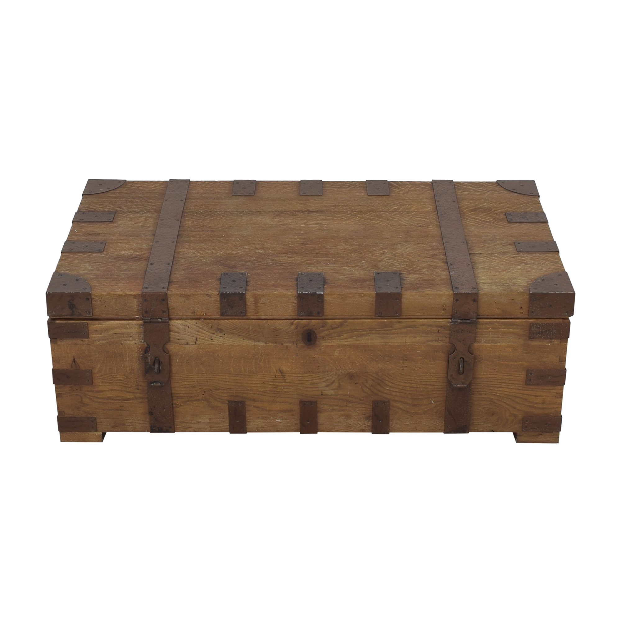 Restoration Hardware Restoration Hardware Heirloom Silver Chest Coffee Trunk for sale