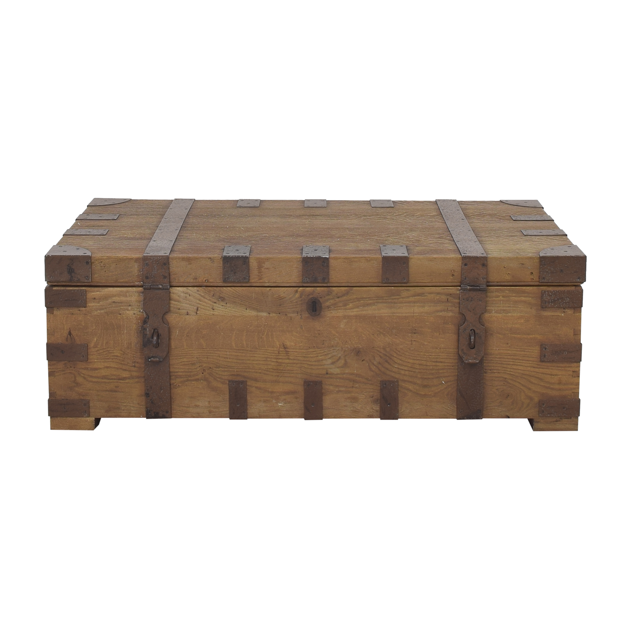 Restoration Hardware Restoration Hardware Heirloom Silver Chest Coffee Trunk dimensions