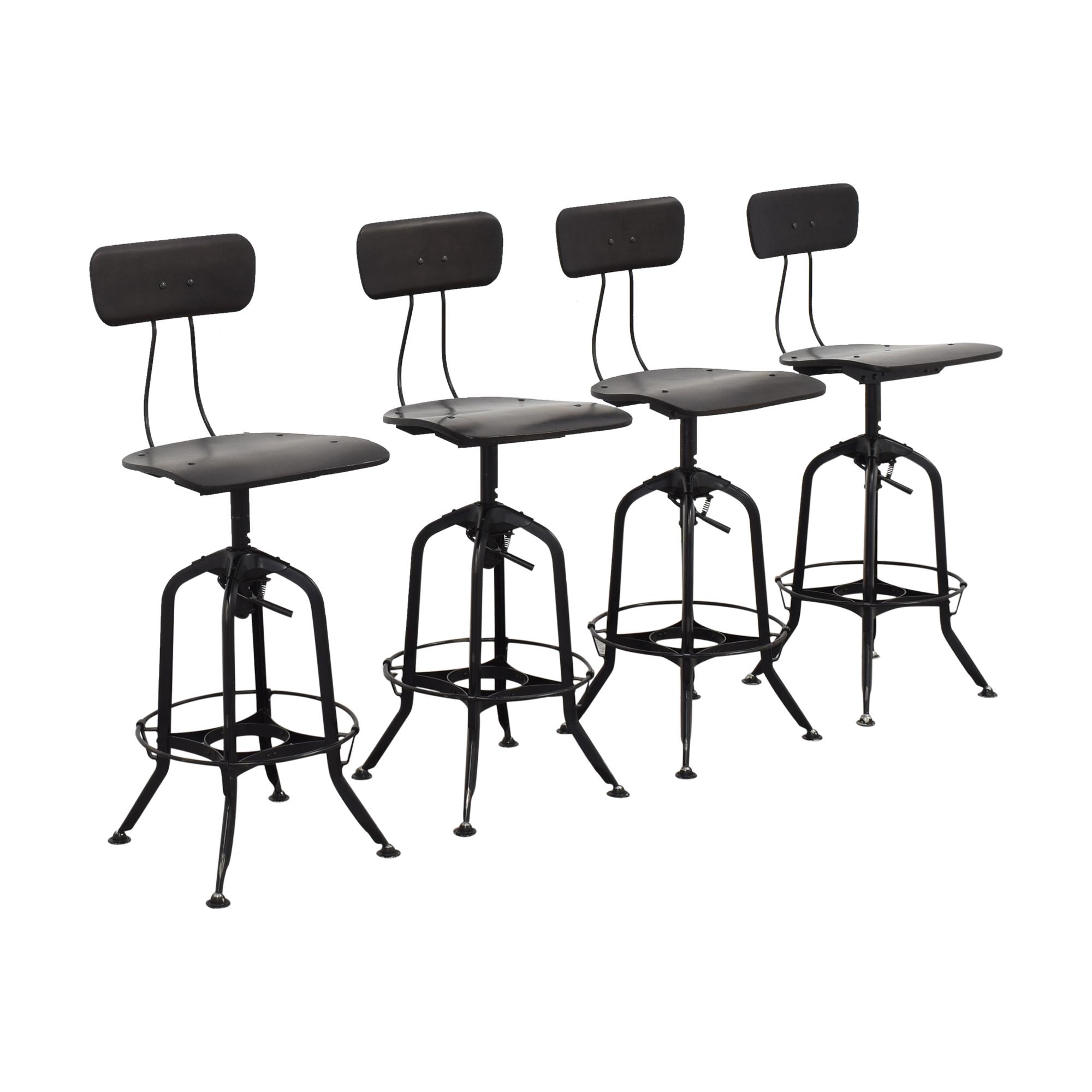 buy Restoration Hardware 1940s Vintage Toledo Bar Chairs Restoration Hardware Stools