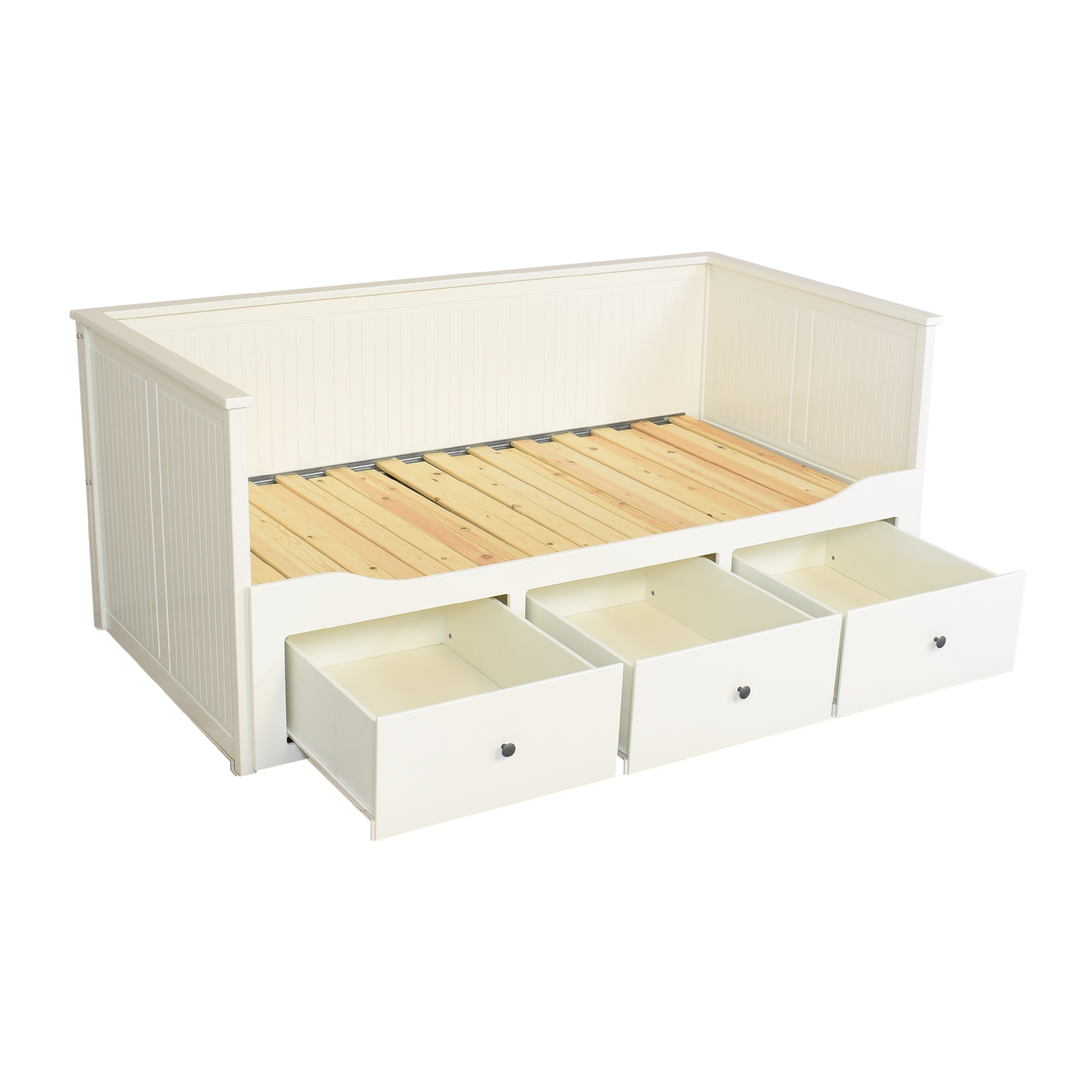 shop IKEA HEMNES Storage Daybed with Trundle IKEA Bed Frames