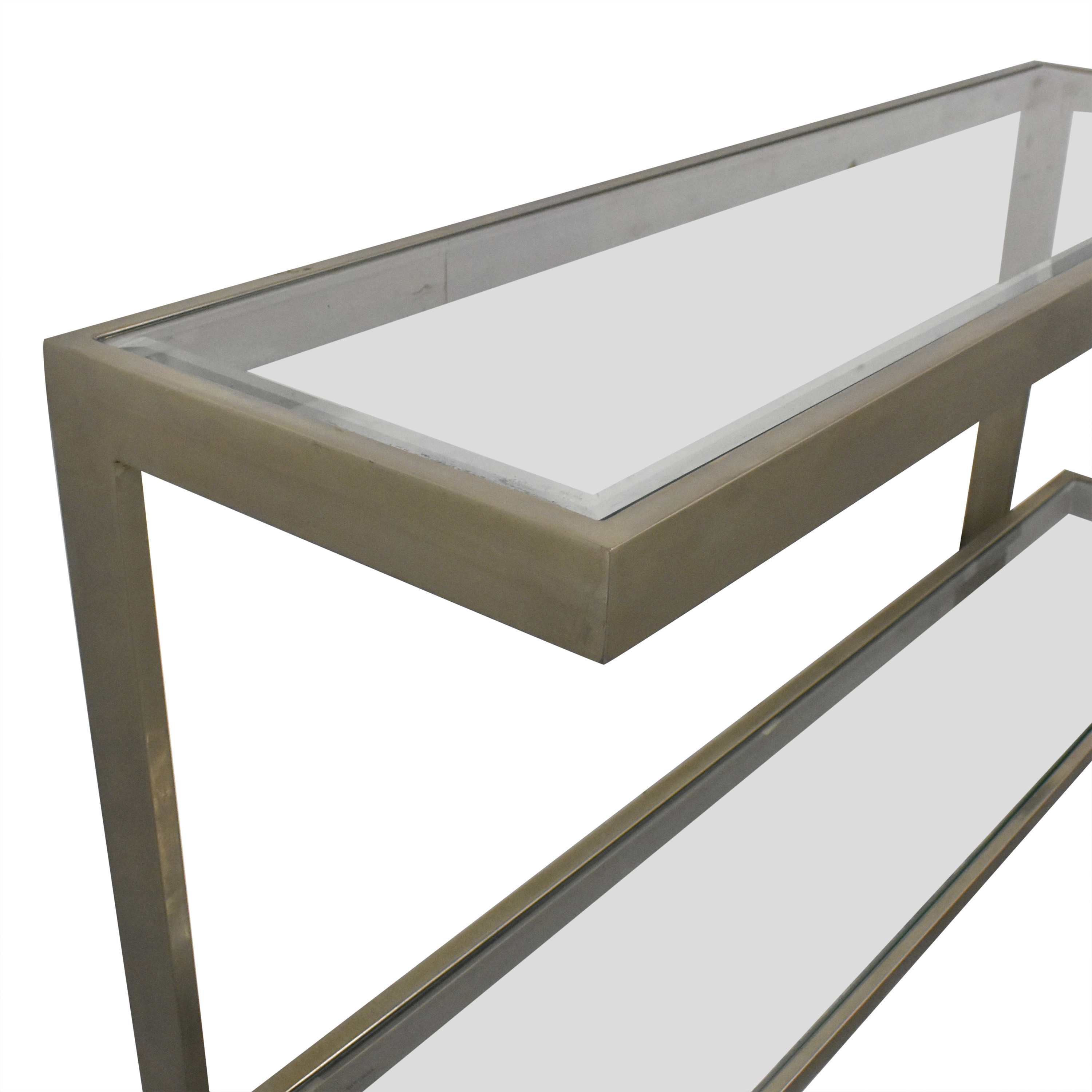 shop Bloomingdale's Contemporary Console Table Bloomingdale's Accent Tables