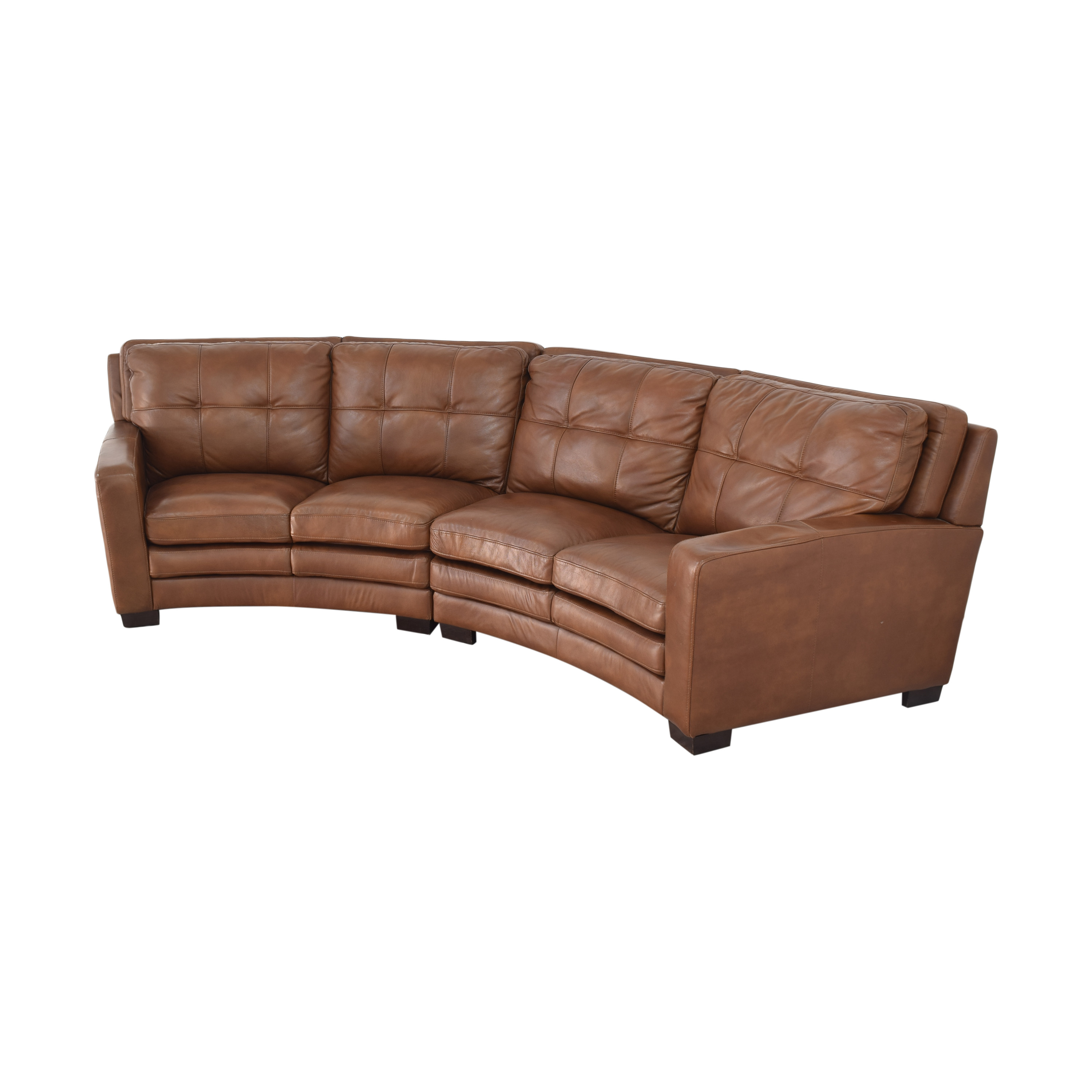 buy Crescent Sectional Sofa with Ottoman