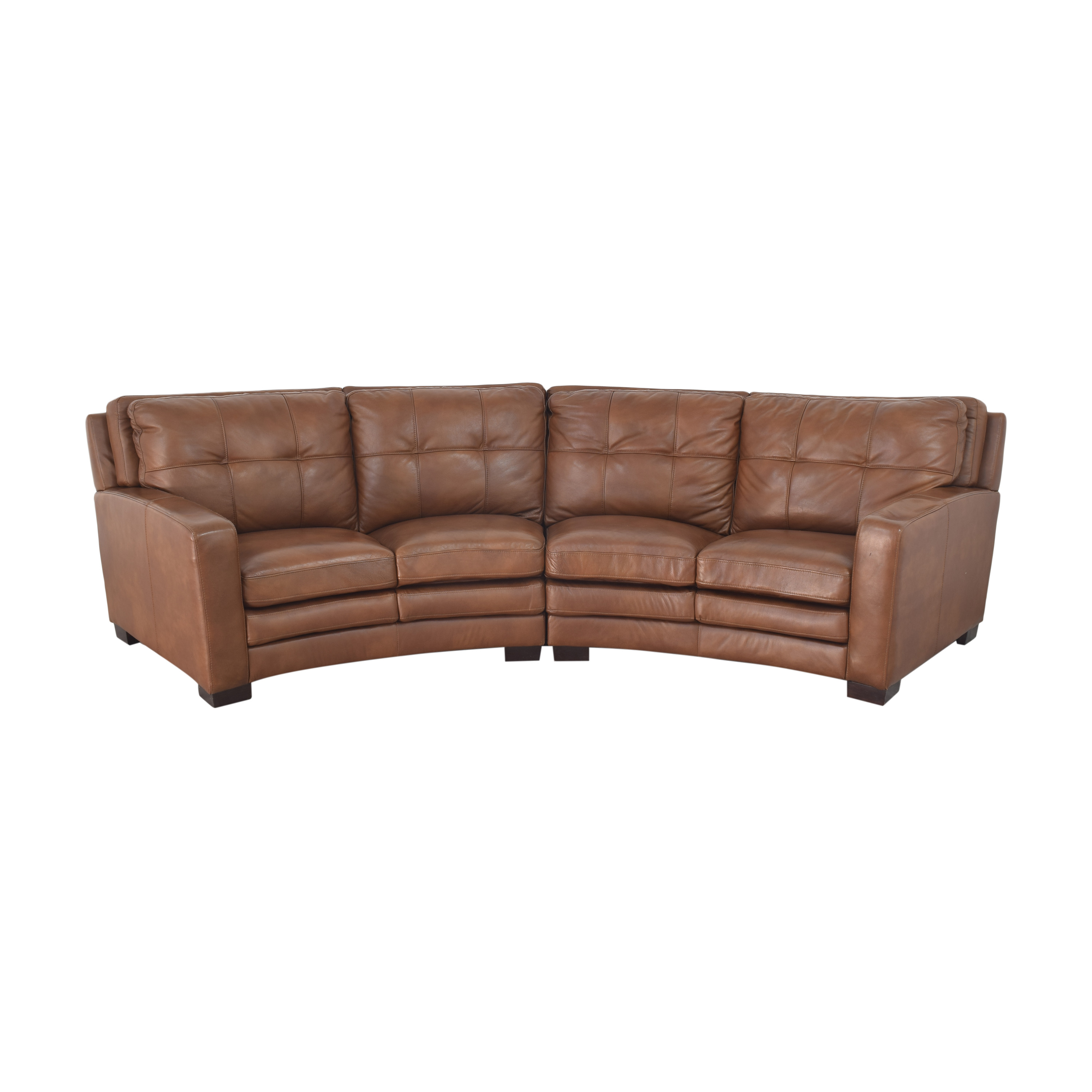 shop Crescent Sectional Sofa with Ottoman