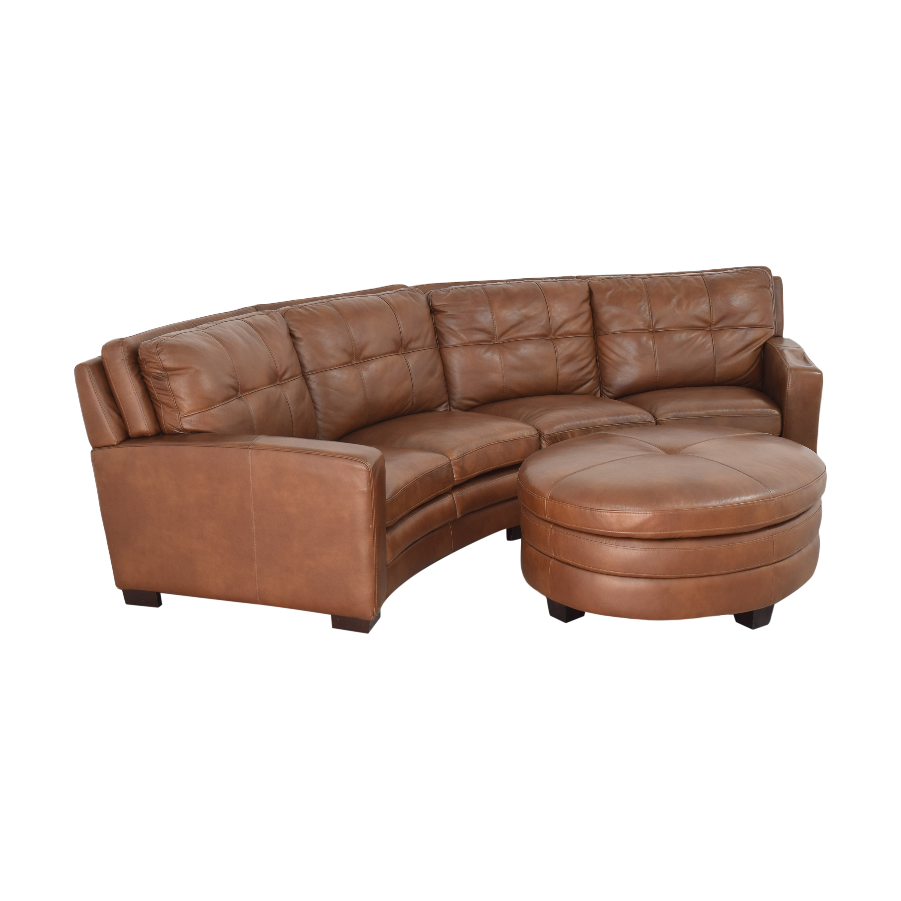 buy  Crescent Sectional Sofa with Ottoman online
