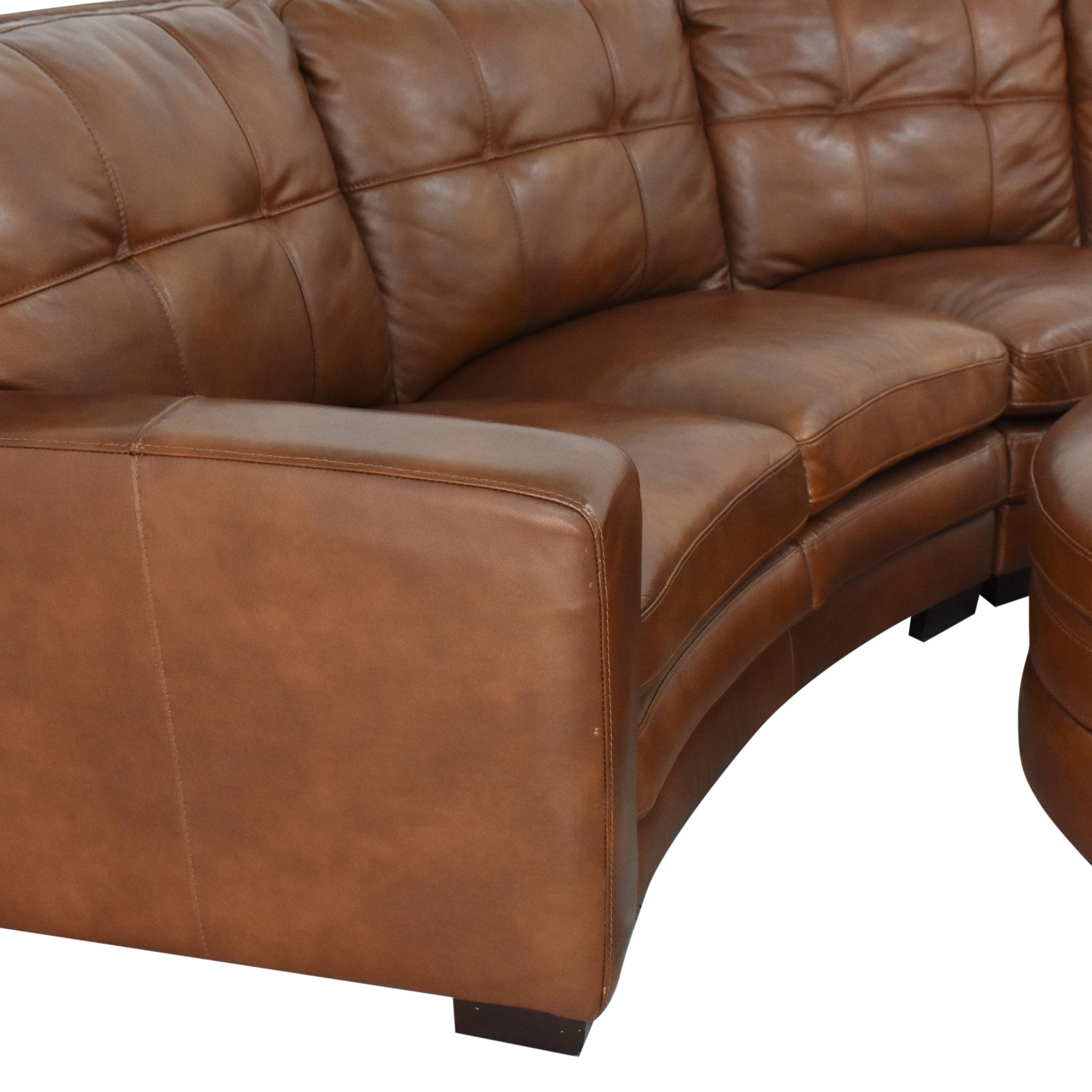 shop Crescent Sectional Sofa with Ottoman  Sofas