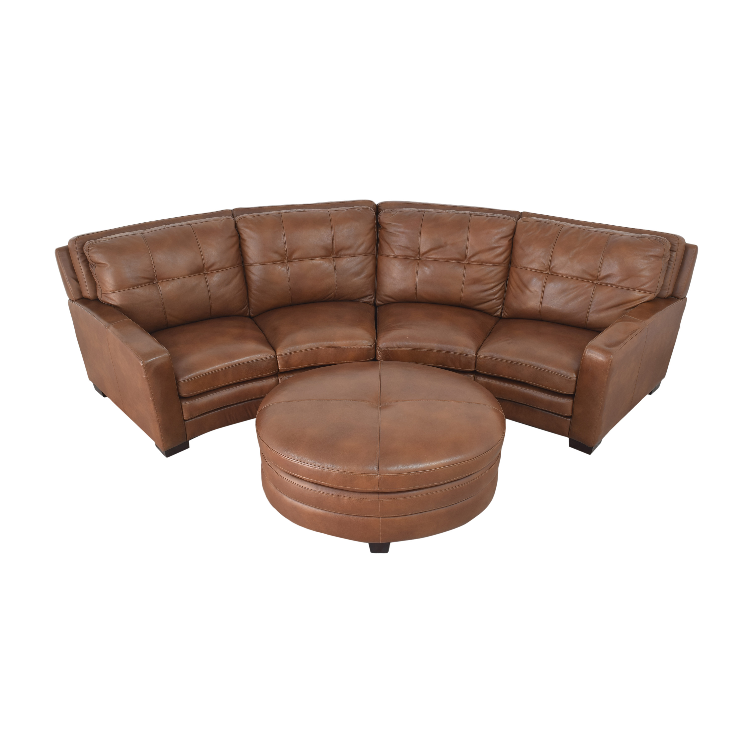 Crescent Sectional Sofa with Ottoman price