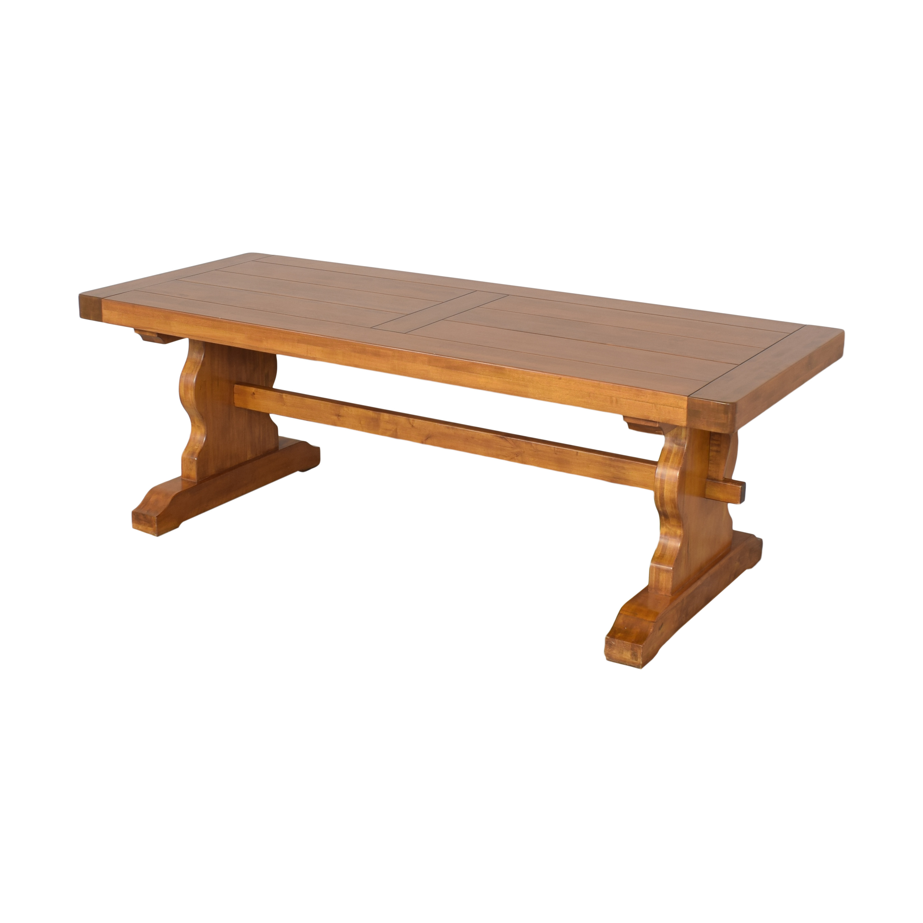 Double Pedestal Dining Table brown