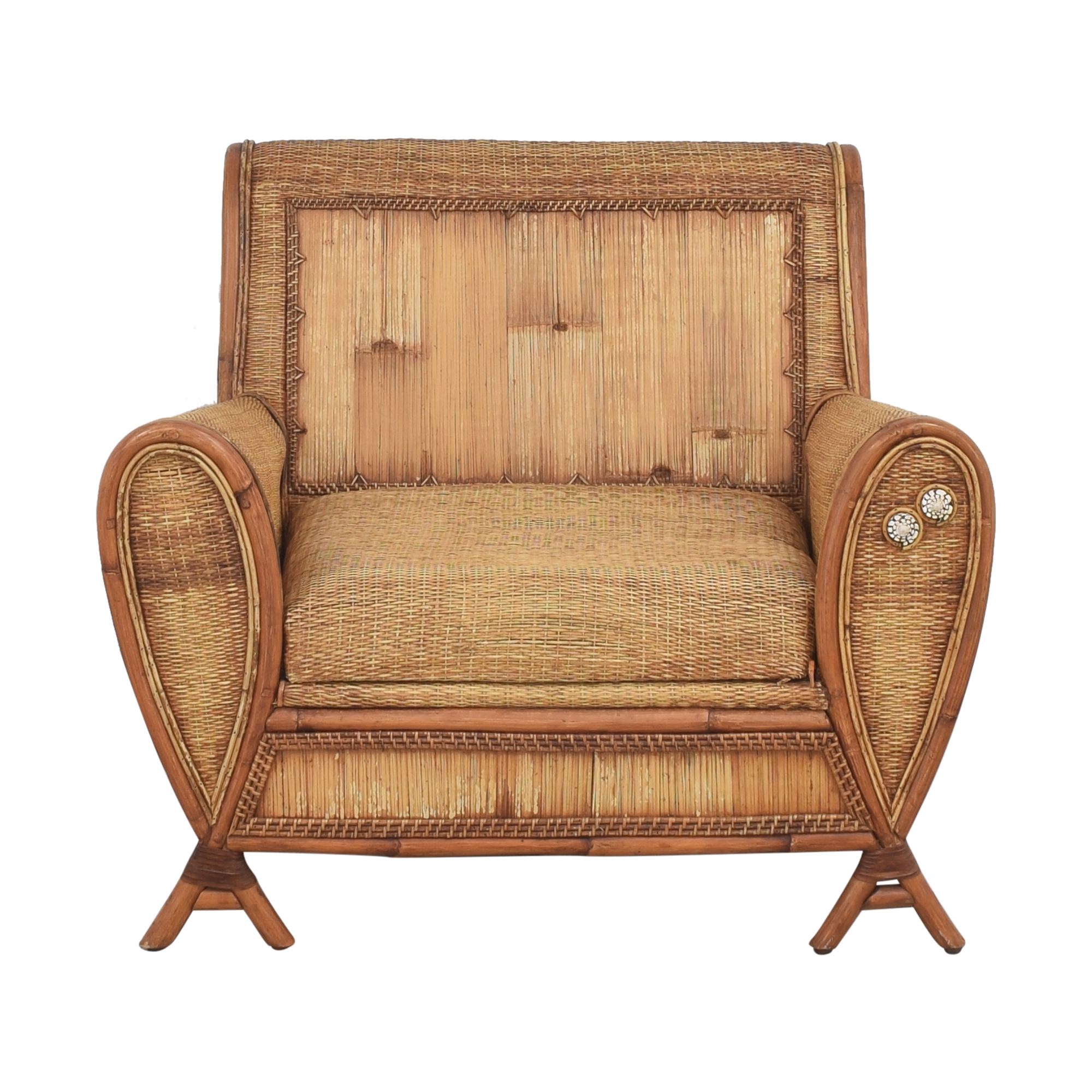 Wicker Accent Chair second hand