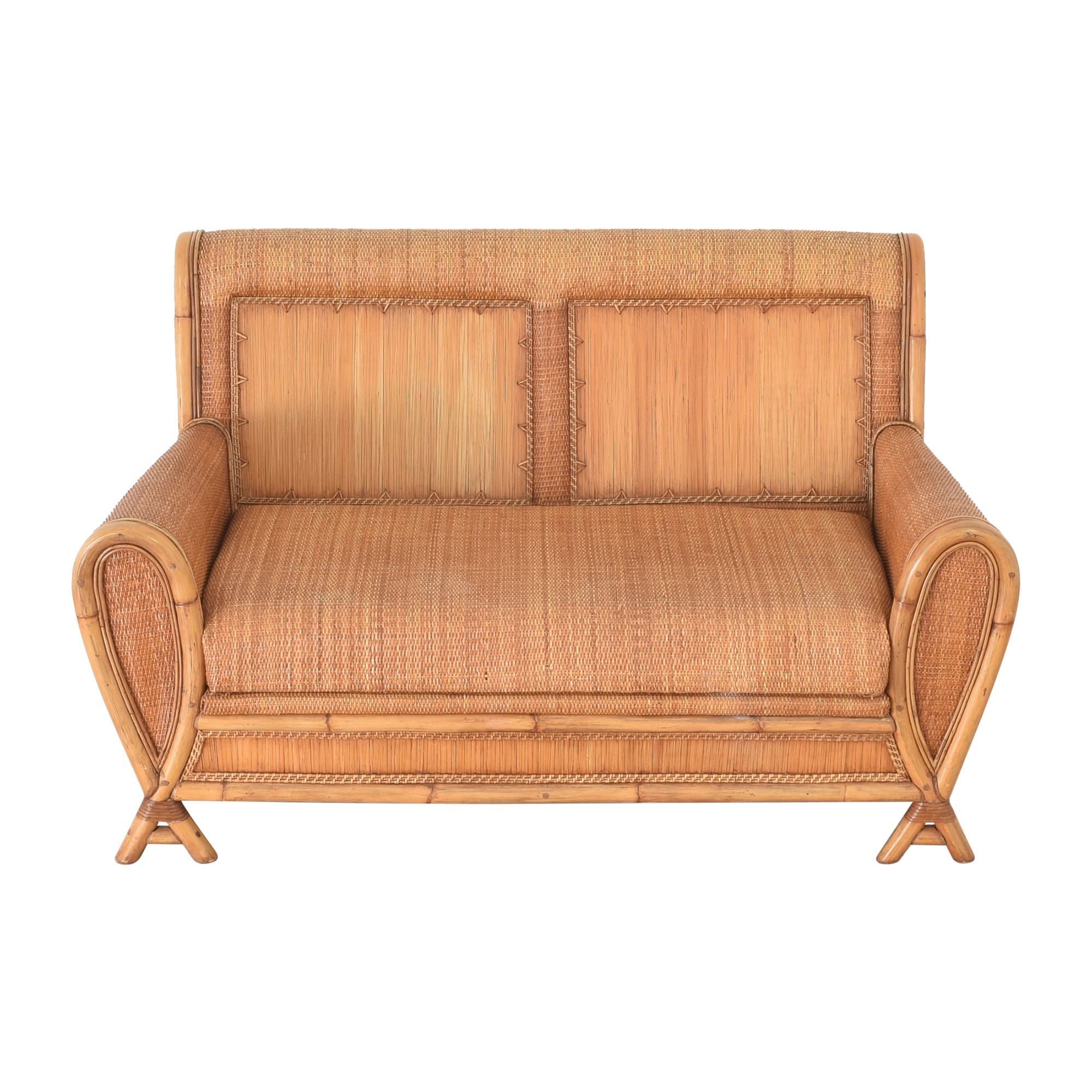 Balinese Bench-Style Loveseat nyc