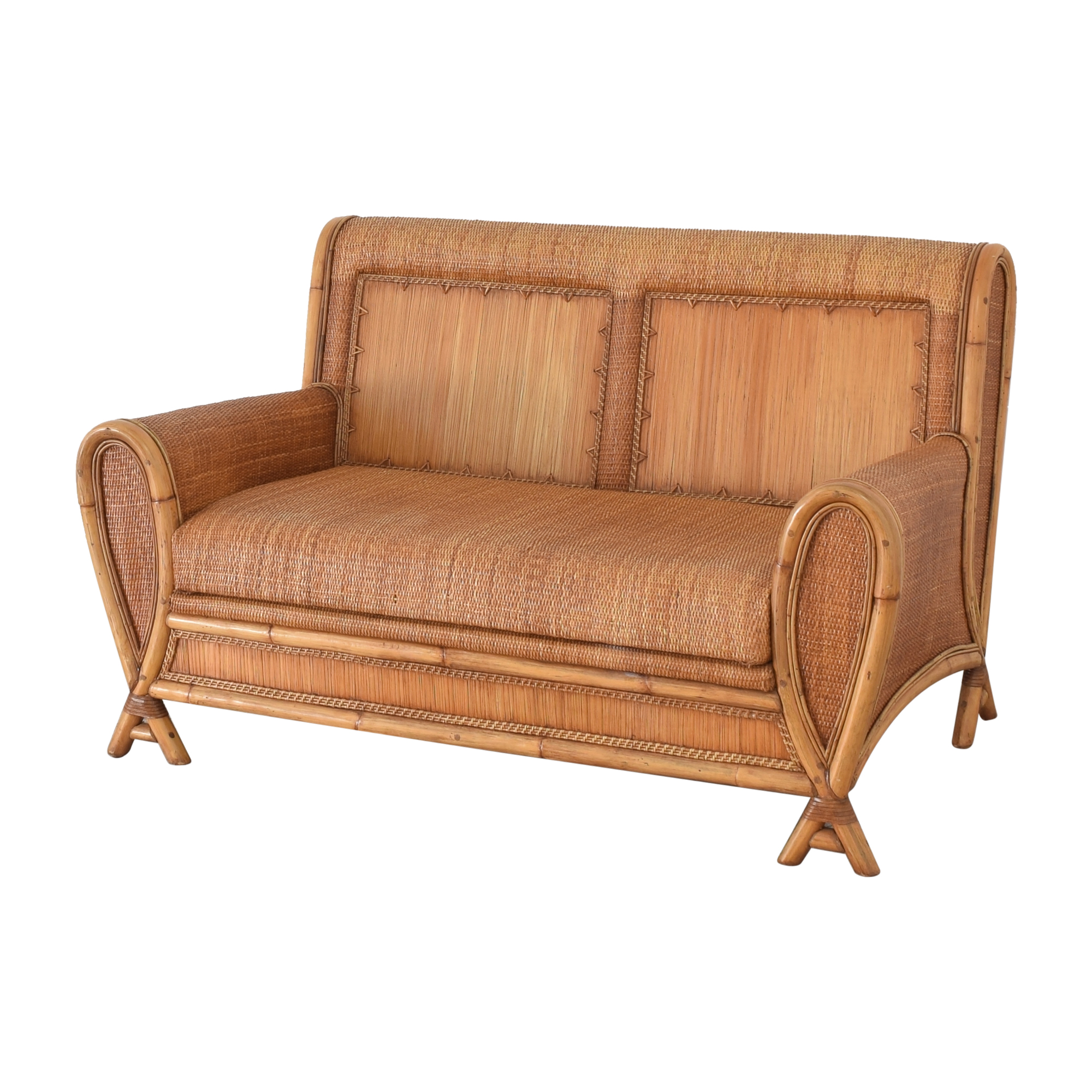 Balinese Bench-Style Loveseat for sale