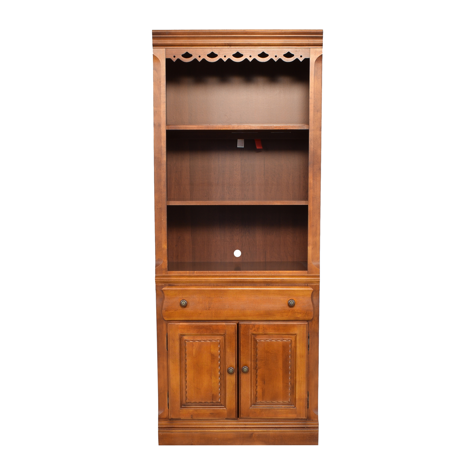shop Broyhill Furniture Lighted Bookcase Broyhill Furniture Storage