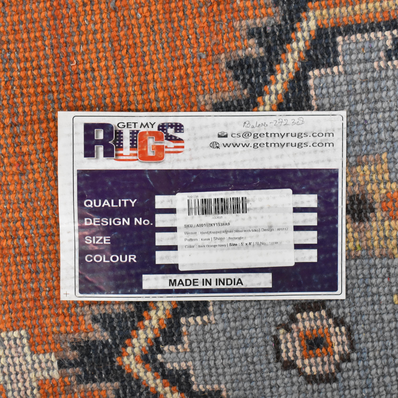 Afghan Kazak Style Area Rug Decor