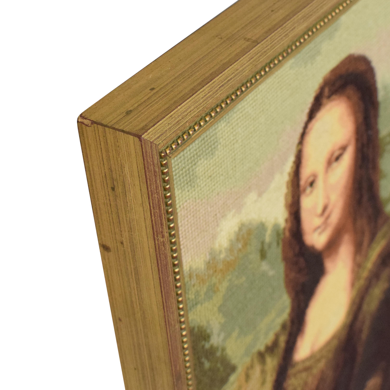 Handmade Framed Mona Lisa Wall Art used