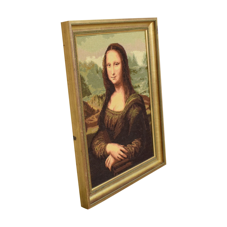 Handmade Framed Mona Lisa Wall Art Wall Art