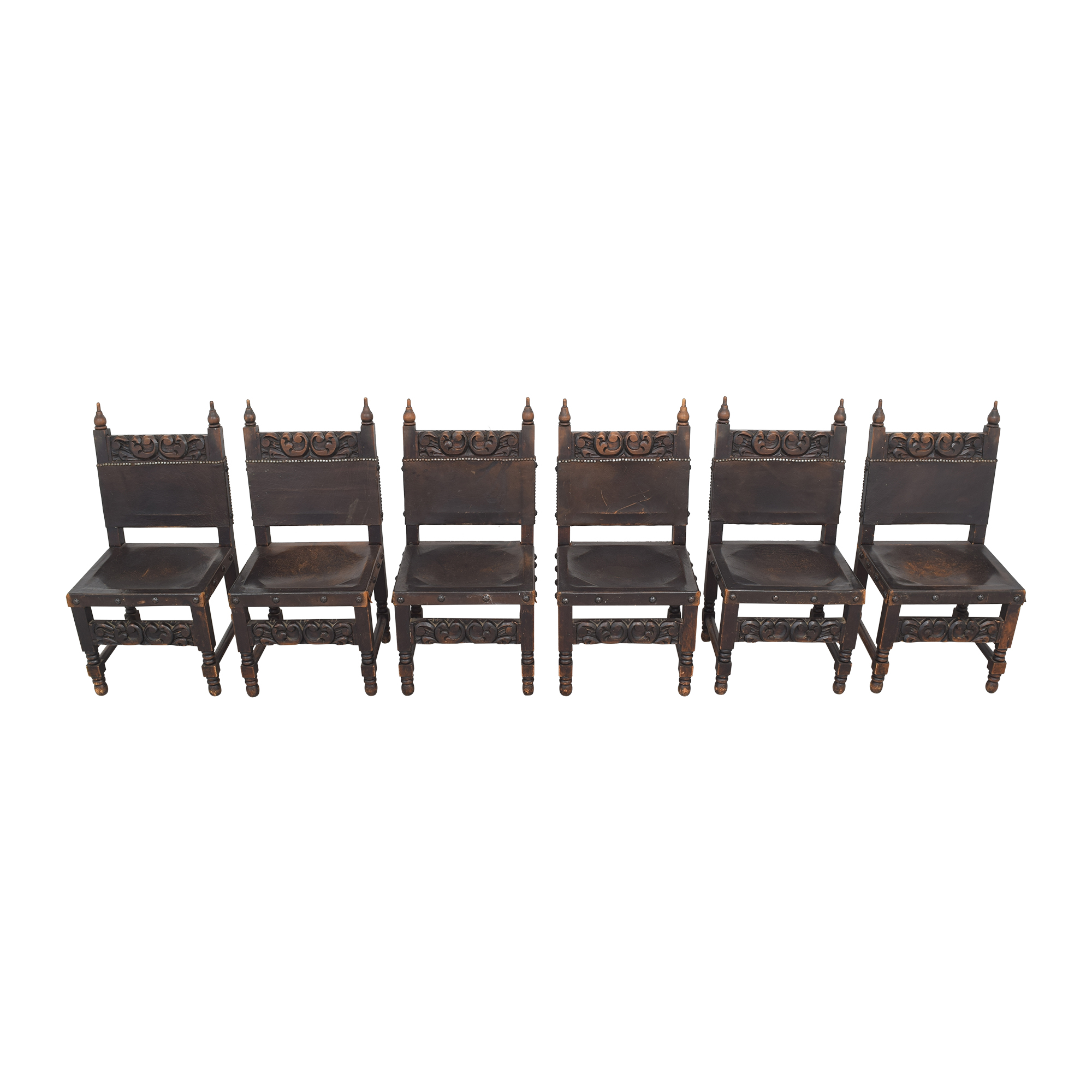 Carved Mexican Dining Chairs pa