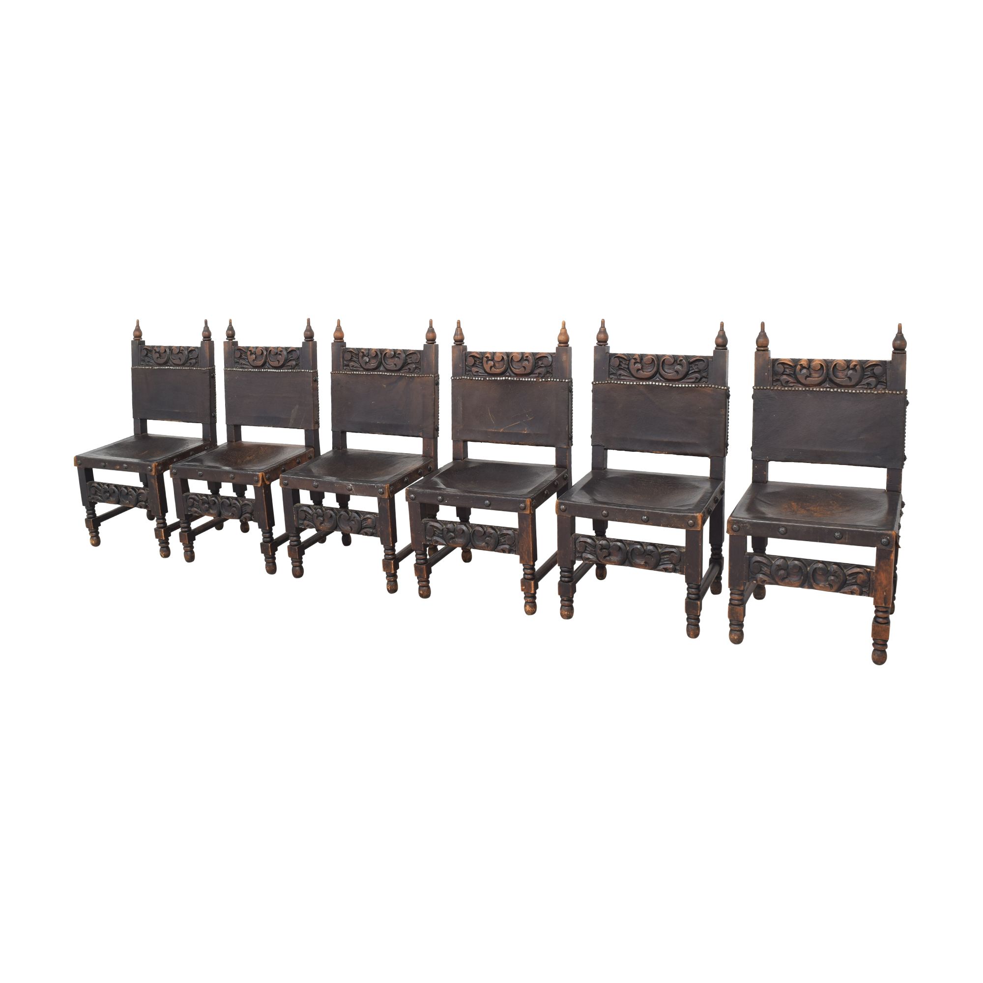Carved Mexican Dining Chairs second hand