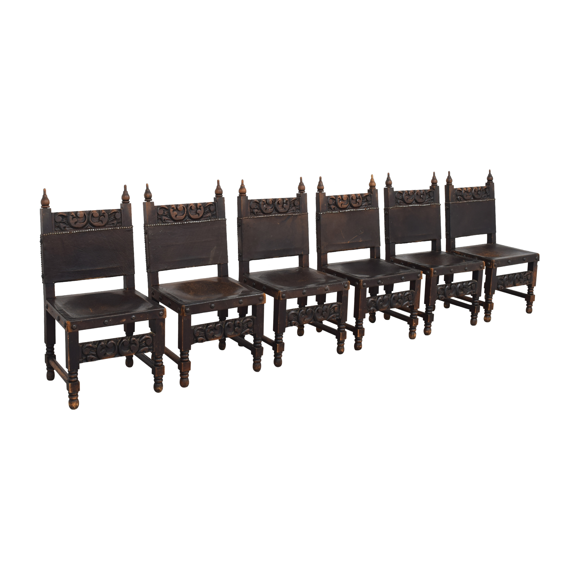 Carved Mexican Dining Chairs