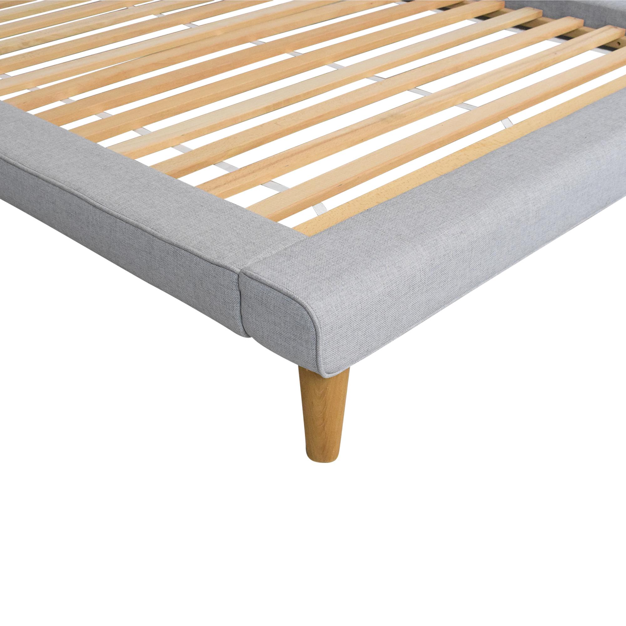 West Elm West Elm Mod Upholstered Full Platform Bed discount