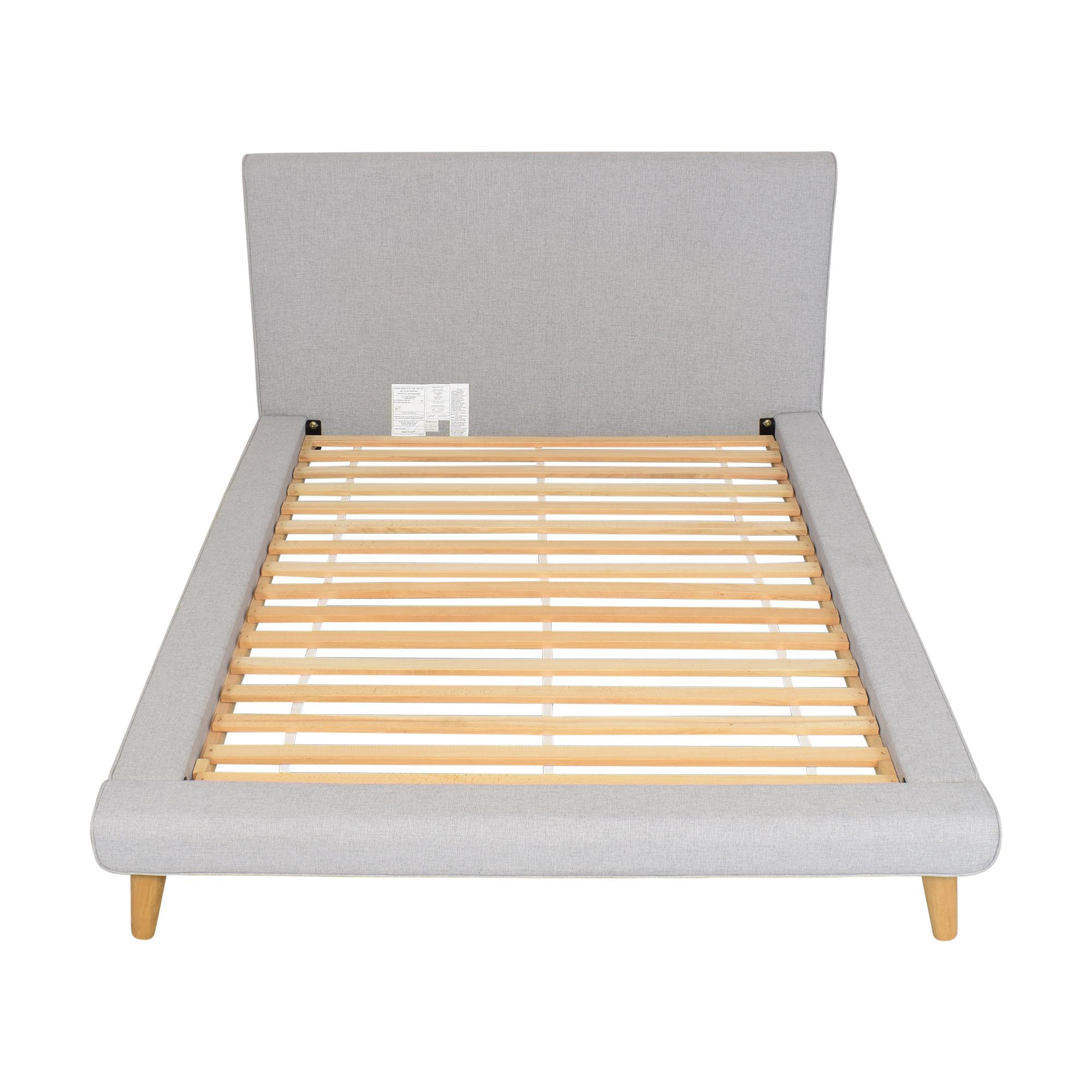 buy West Elm Mod Upholstered Full Platform Bed West Elm Bed Frames